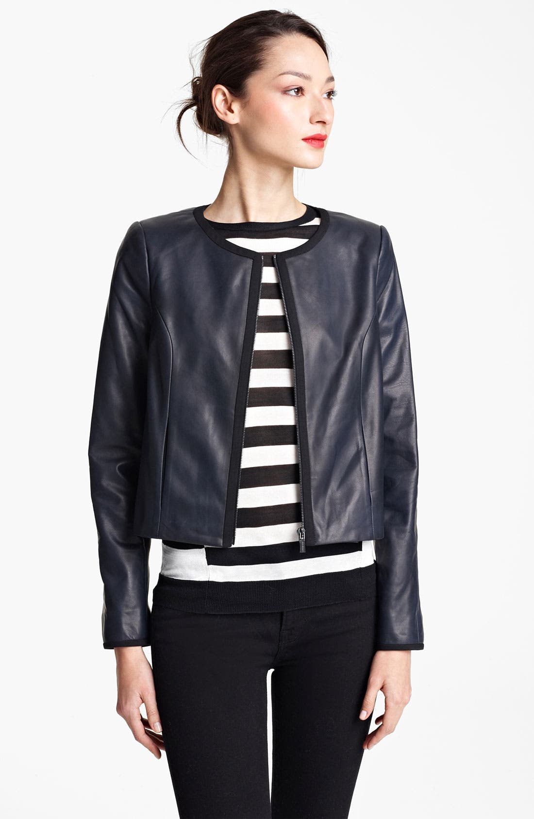 Alternate Image 1 Selected - Jason Wu Nappa Leather Jacket