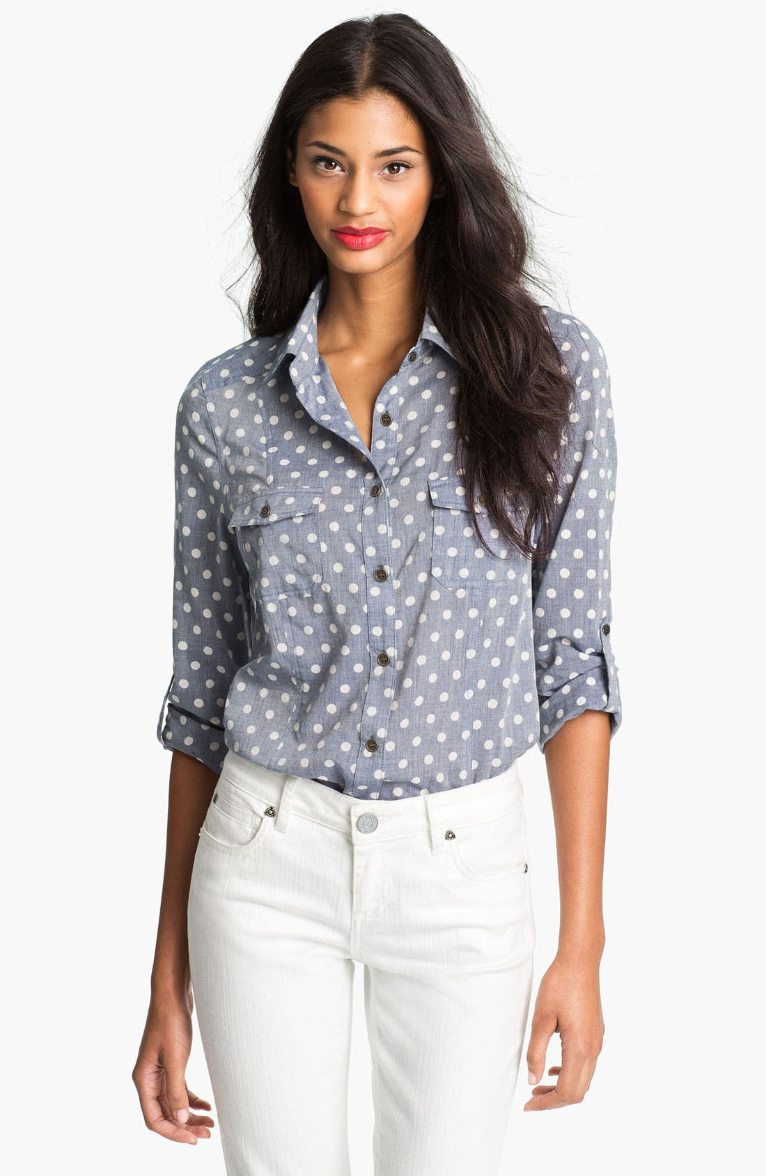 Alternate Image 1 Selected - KUT from the Kloth 'Jules' Dot Print Shirt