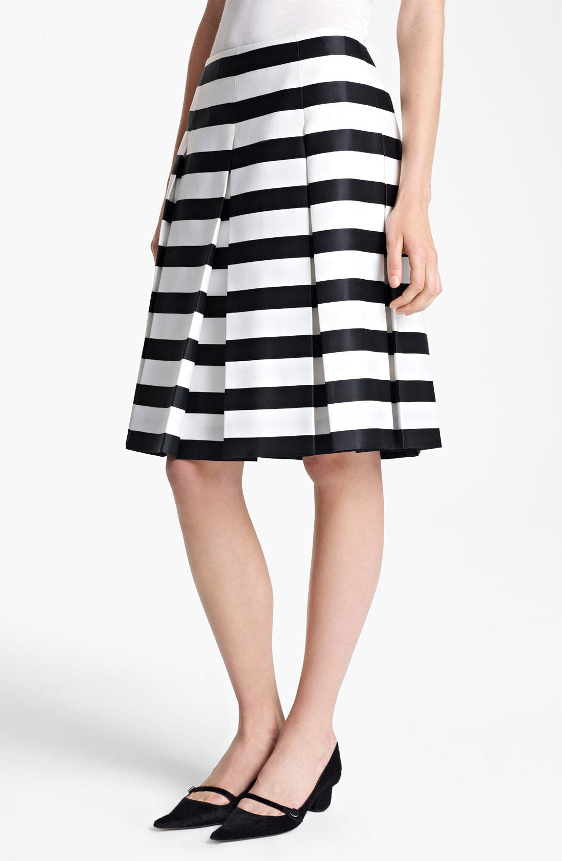 Main Image - MARC JACOBS Large Stripe Satin Gabardine Skirt
