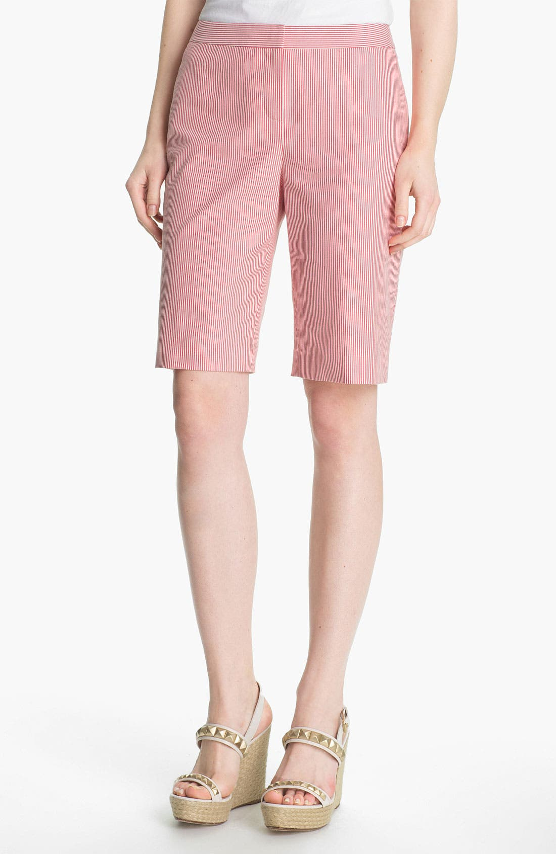 Alternate Image 1 Selected - Halogen® 'Taylor' Curvy Fit Bermuda Shorts