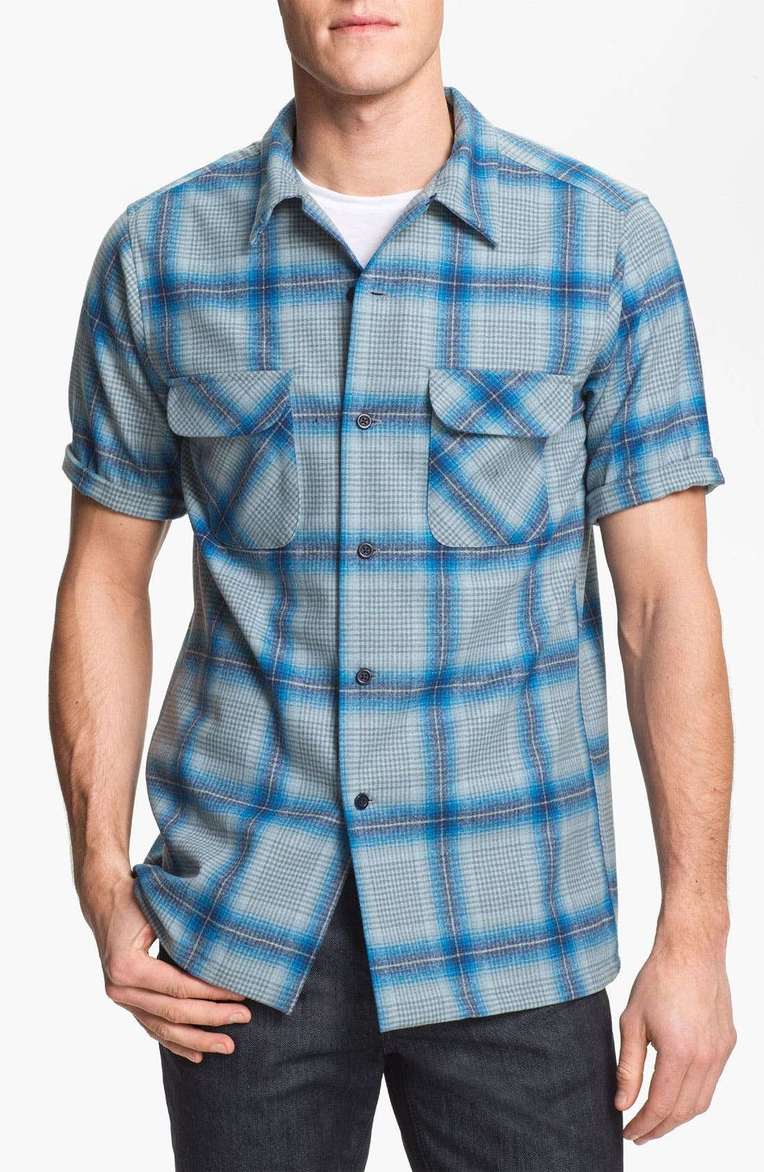 Main Image - Pendleton 'Board' Fitted Short Sleeve Wool Shirt