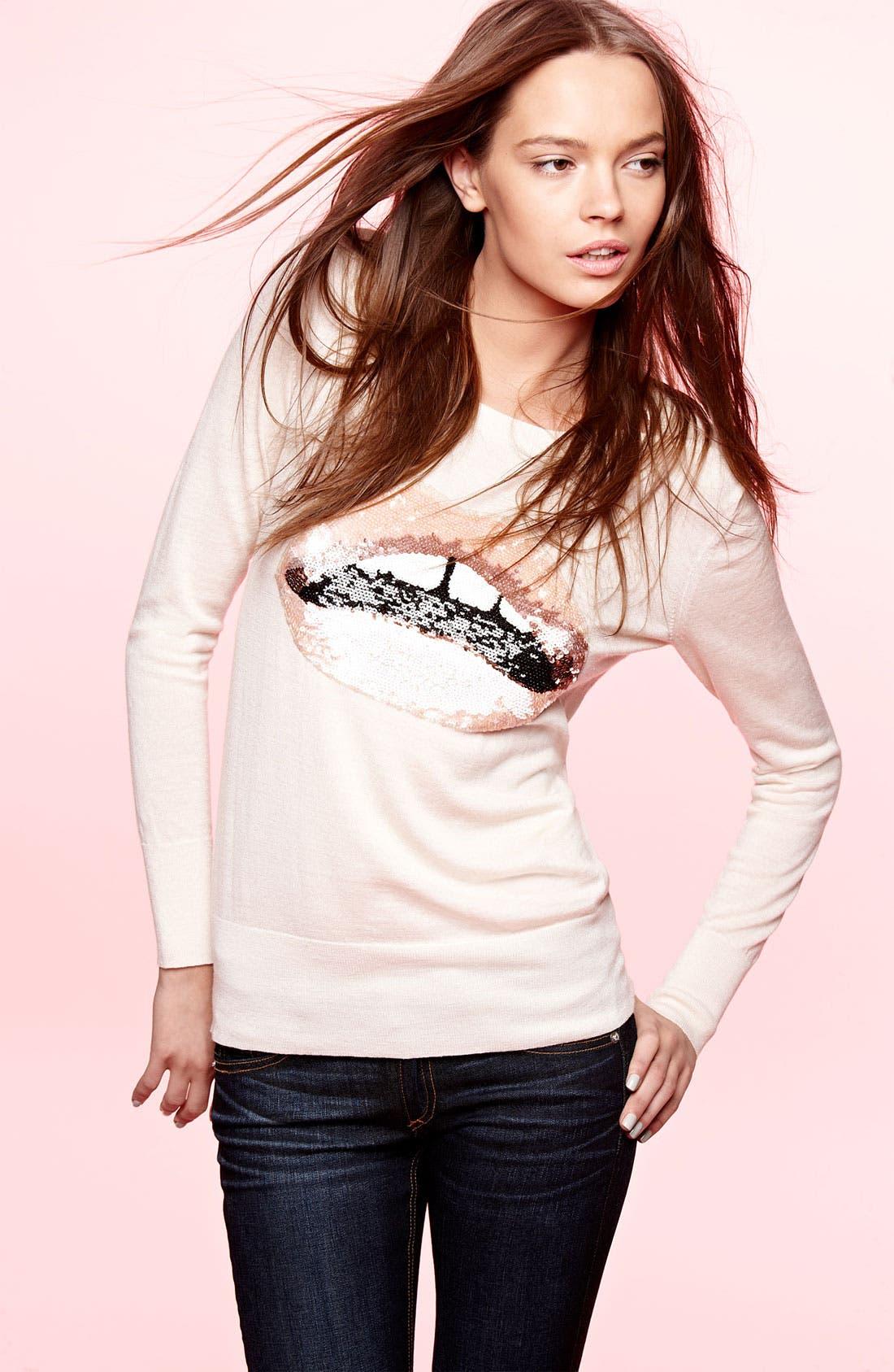 Alternate Image 5  - Markus Lupfer Sequin Lip Sweater