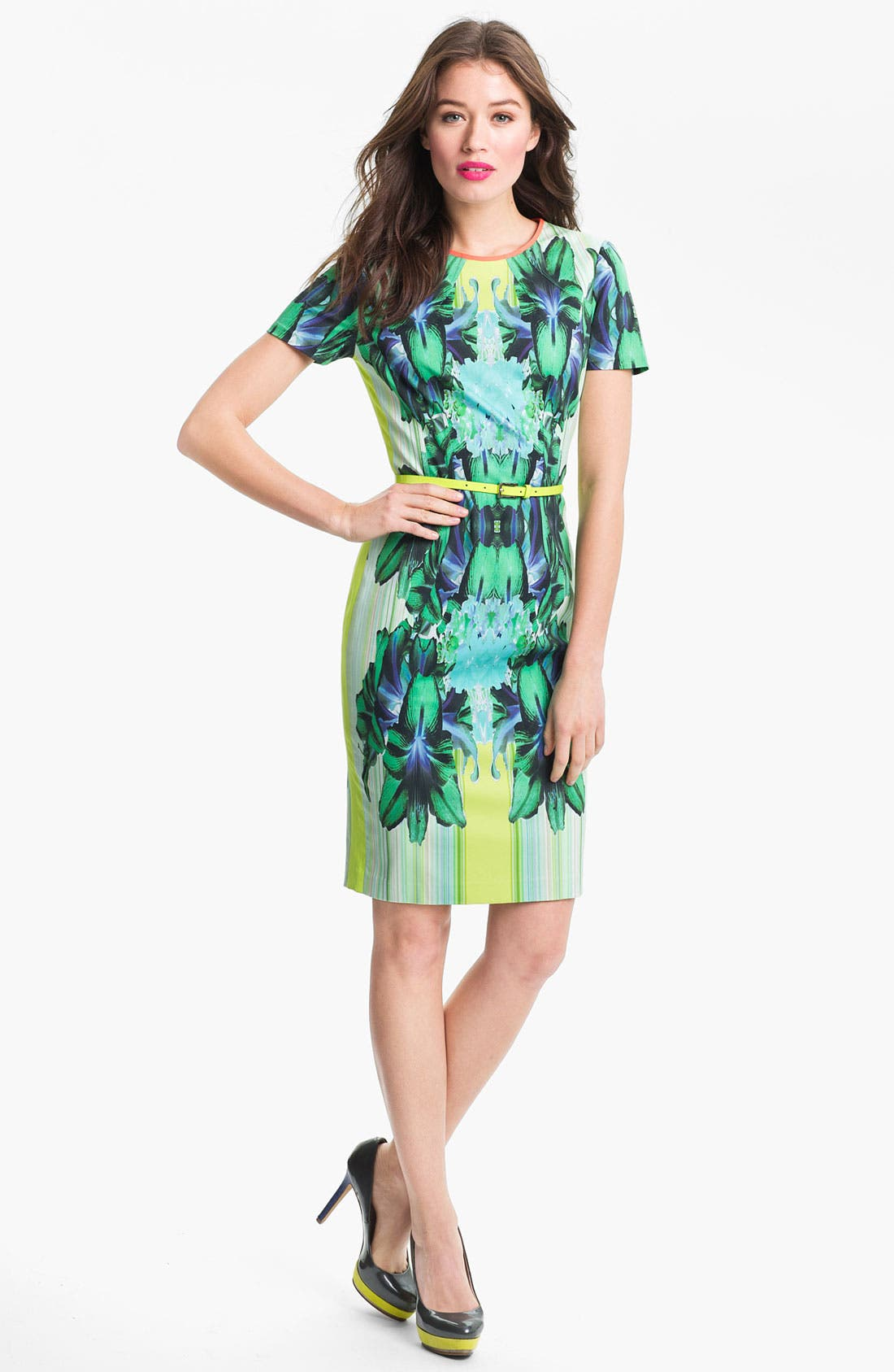Alternate Image 1 Selected - Elie Tahari 'Angie - Mirror Orchid' Dress