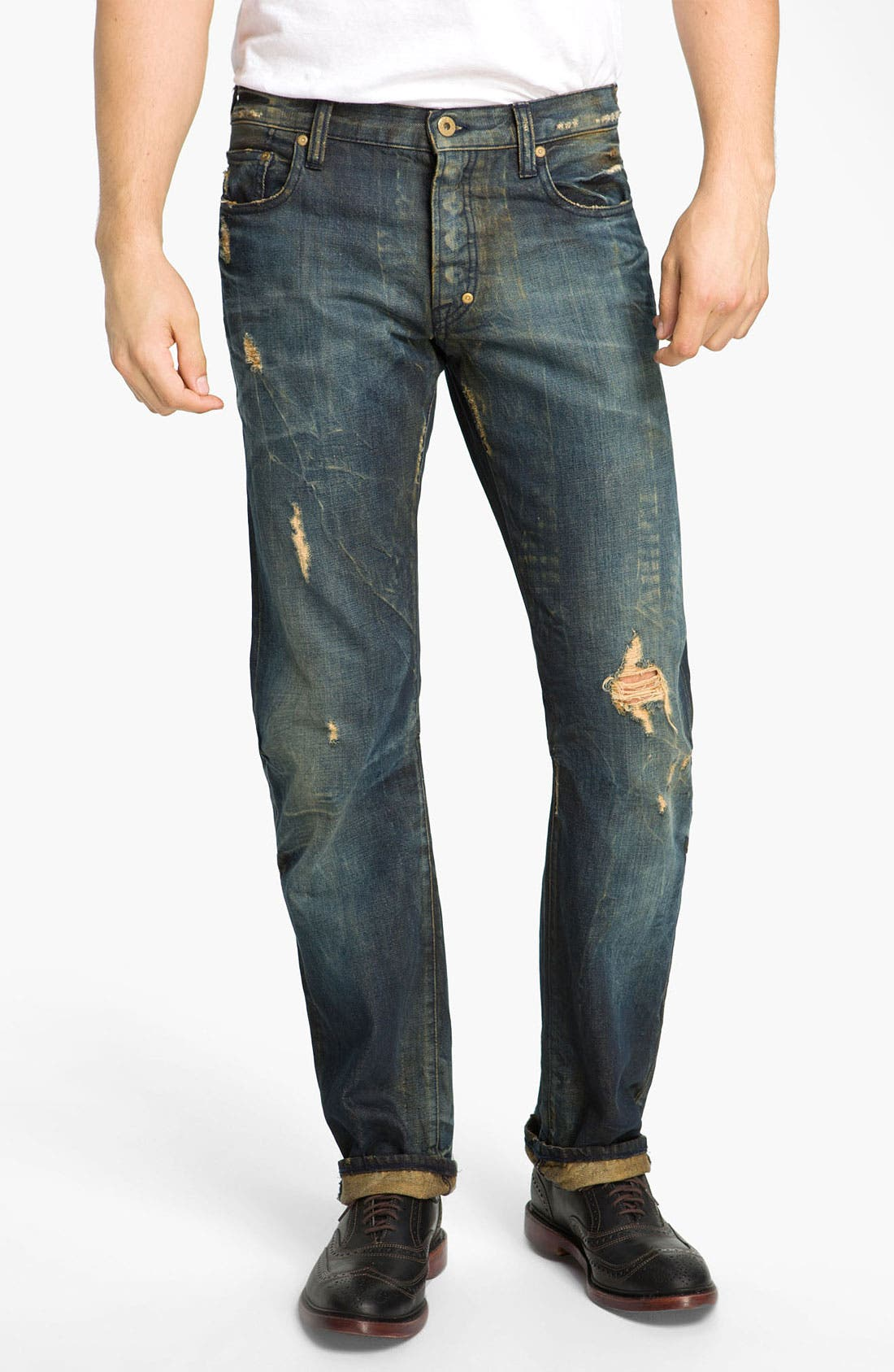 Alternate Image 2  - PRPS 'Barracuda Tiger's Nest' Straight Leg Jeans (Indigo)