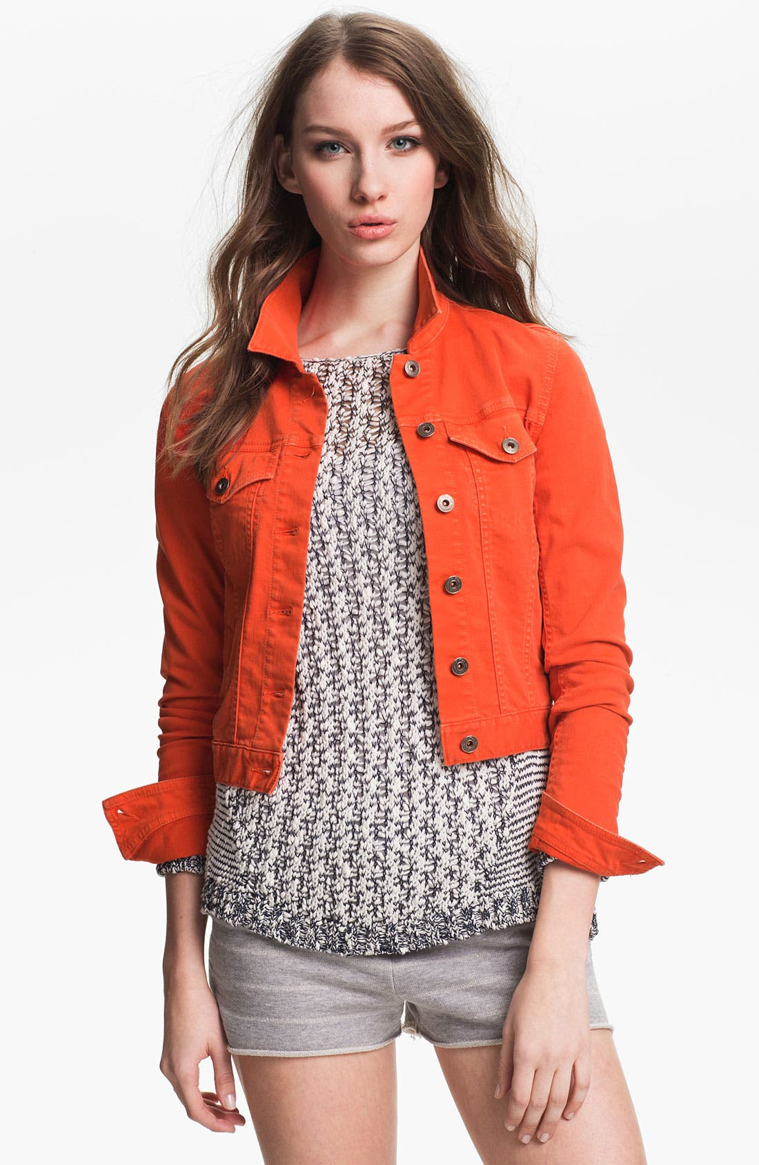 Main Image - Two by Vince Camuto Colored Denim Jacket
