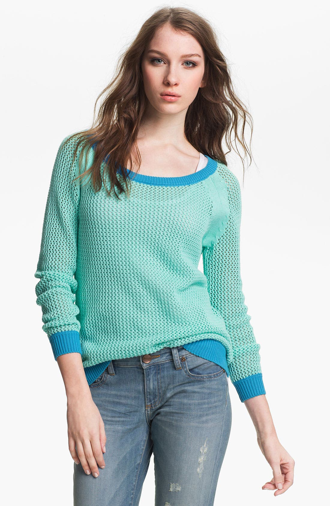 Alternate Image 1 Selected - Two by Vince Camuto Open Stitch Sweater