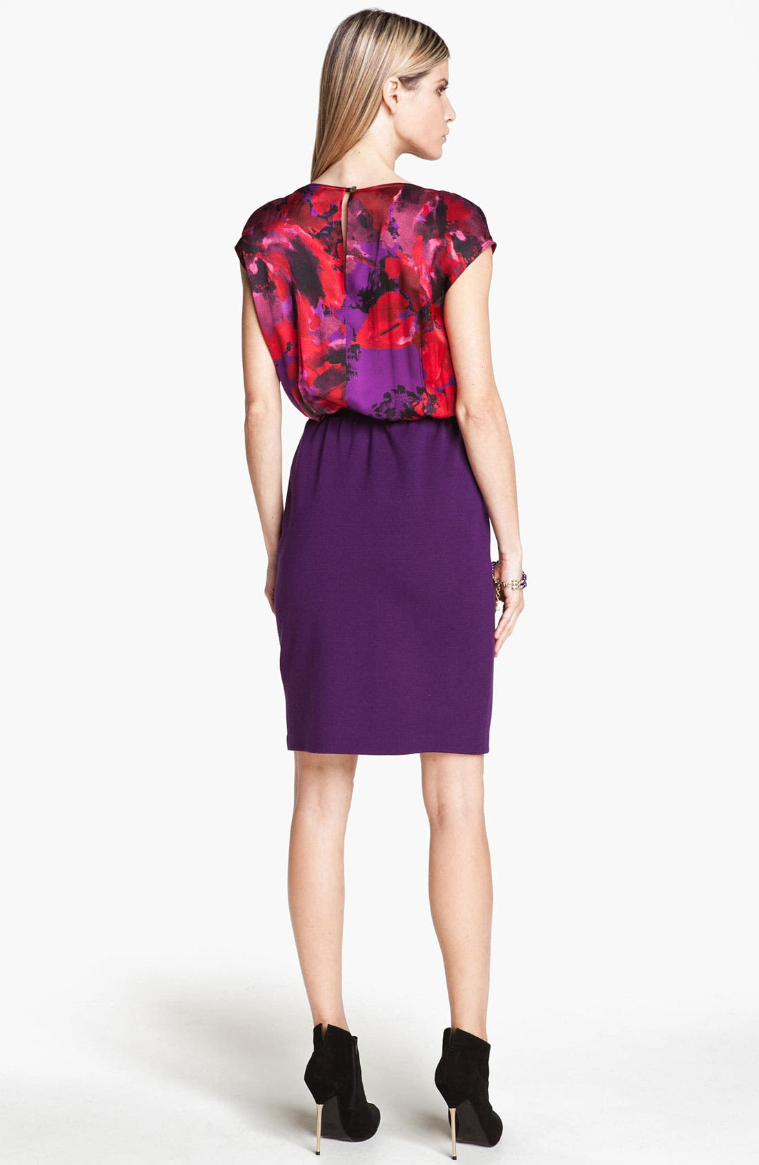 Alternate Image 2  - St. John Collection Rose Print Dress