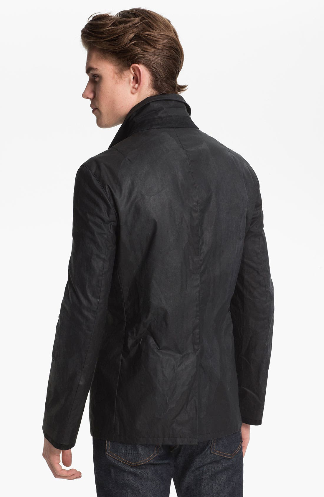 Alternate Image 2  - John Varvatos Collection Coated Cotton Peacoat