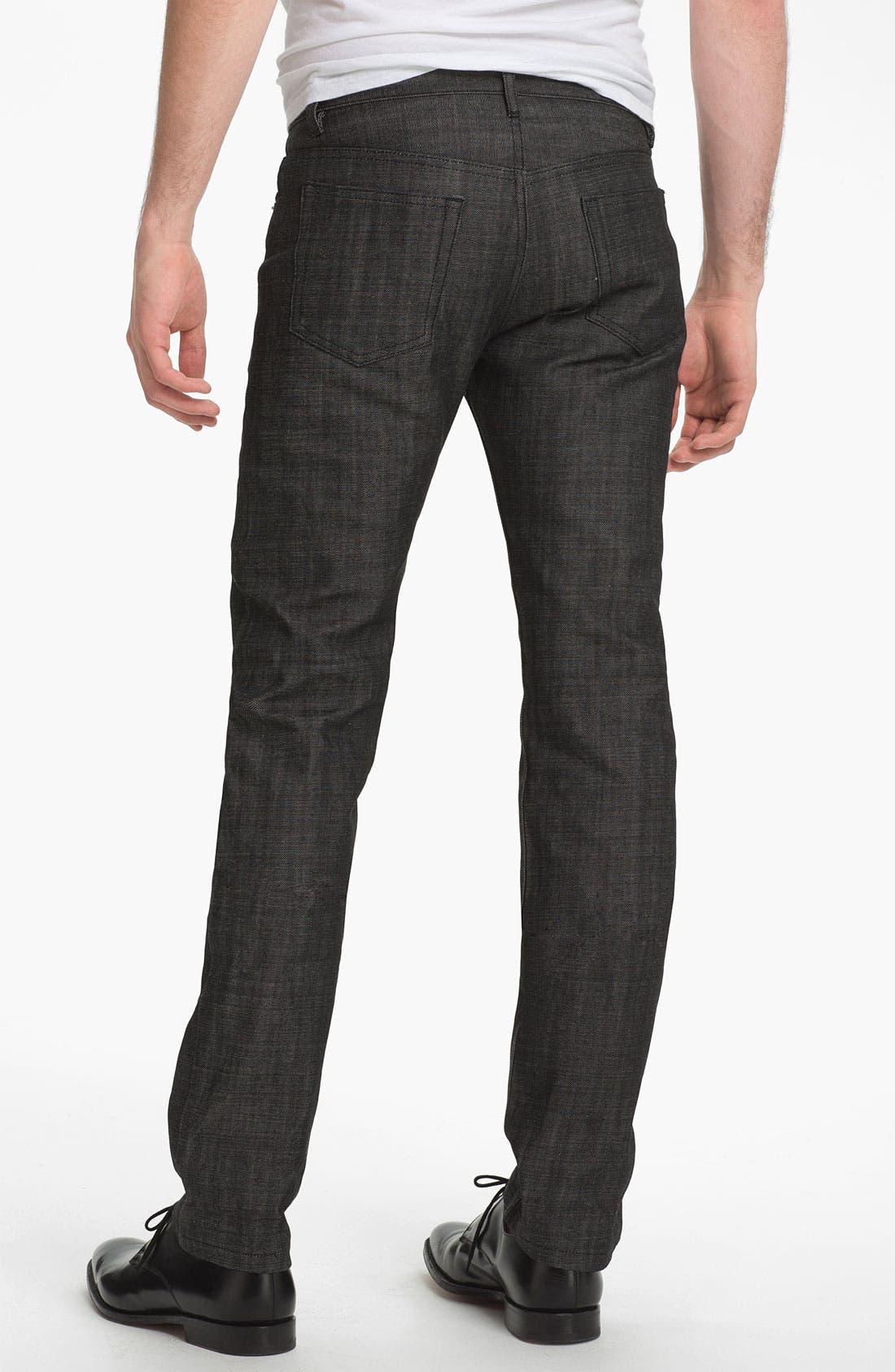 Alternate Image 2  - A.P.C. 'New Standard' Slim Straight Leg Jeans (Black) (Online Only)