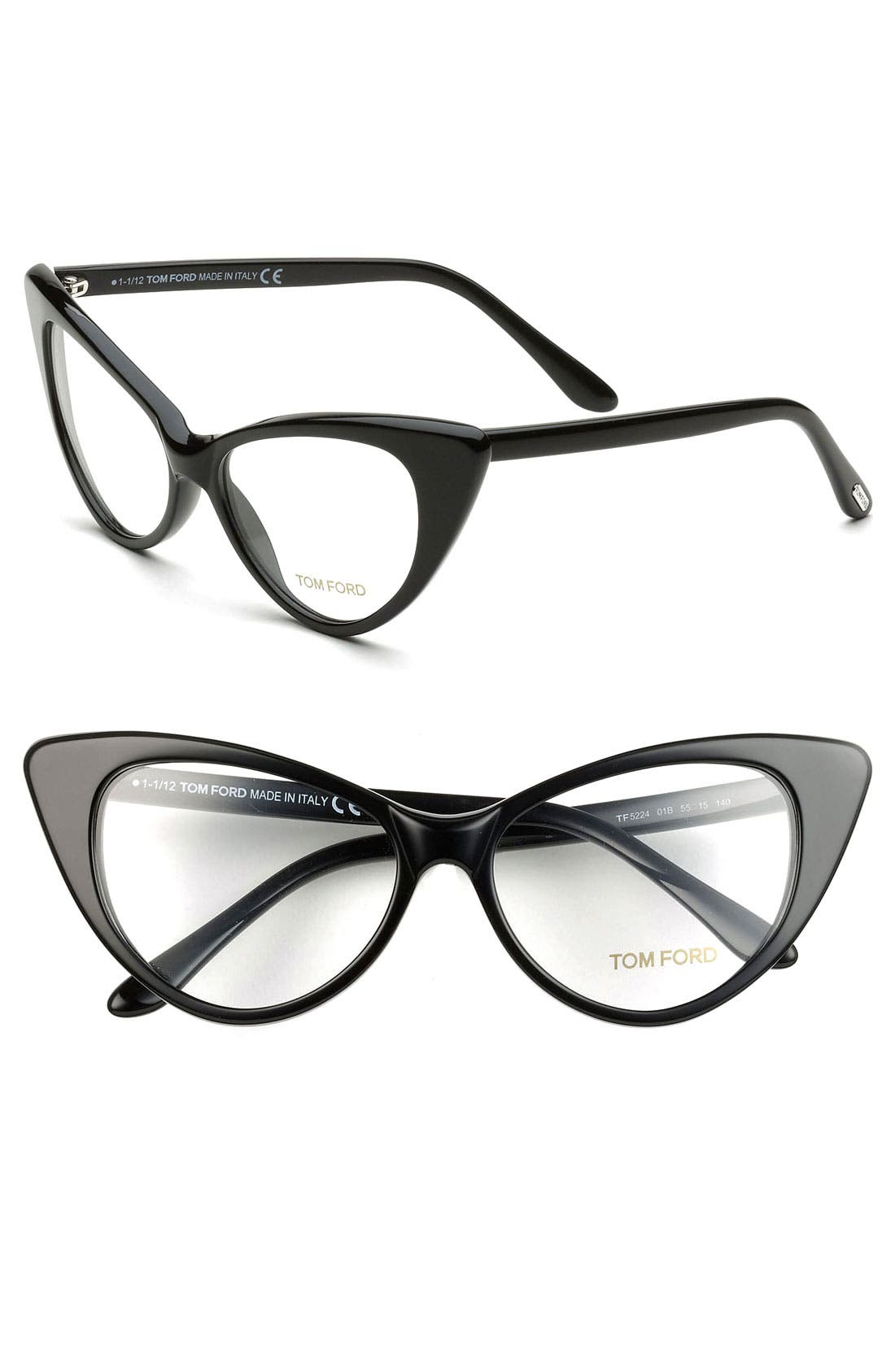 Alternate Image 2  - Tom Ford Cat's Eye 55mm Optical Glasses (Online Only)