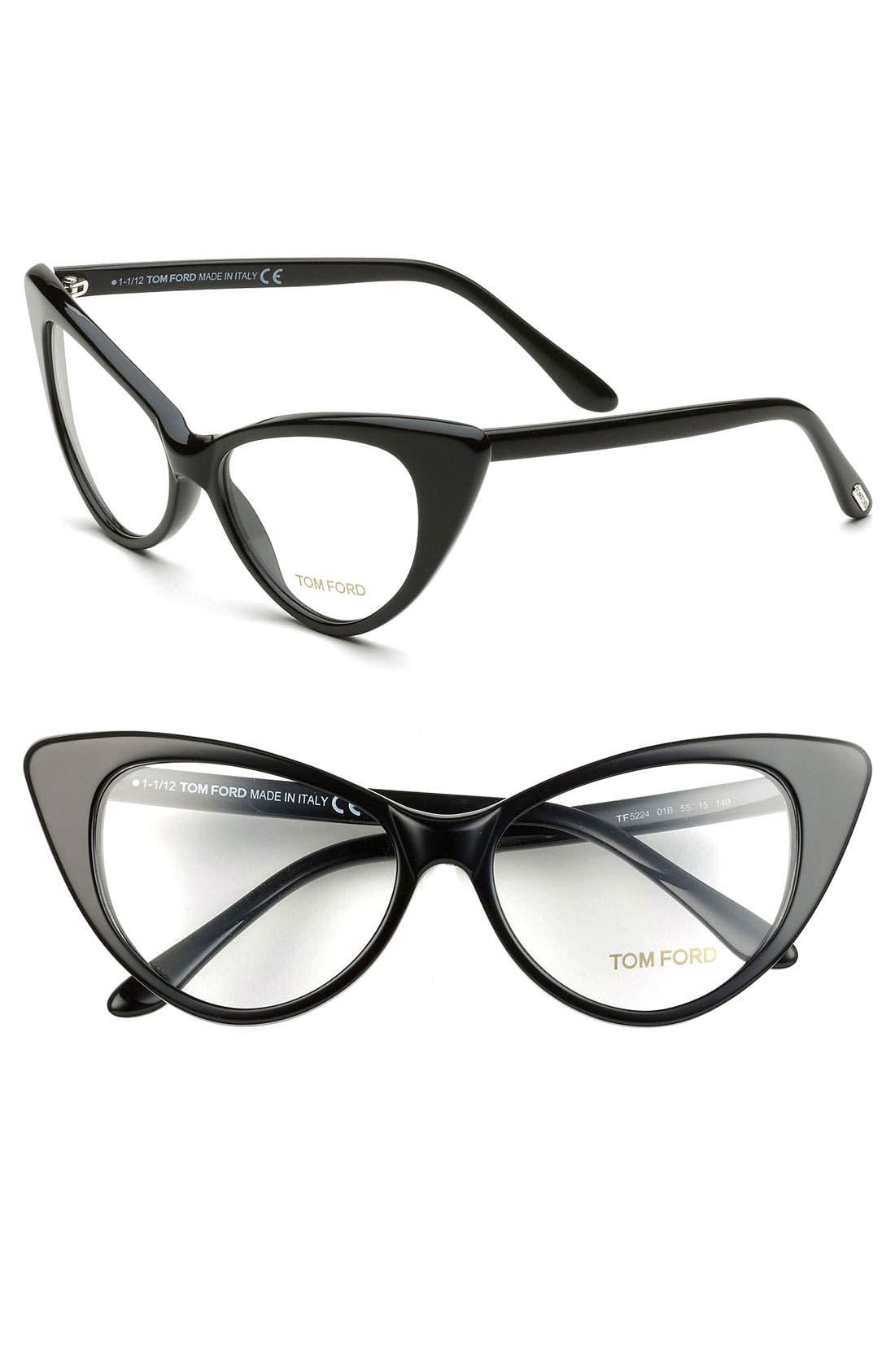 Alternate Image 2  - Tom Ford Cat's Eye 55mm Optical Glasses (Online Only)