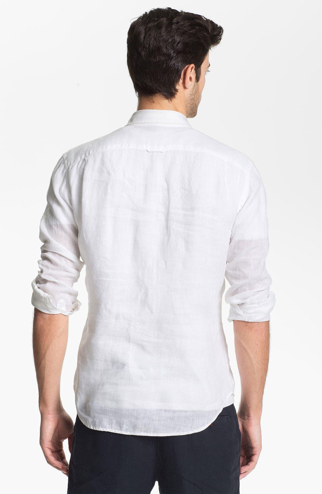 Alternate Image 2  - Vince Classic Fit Linen Sport Shirt