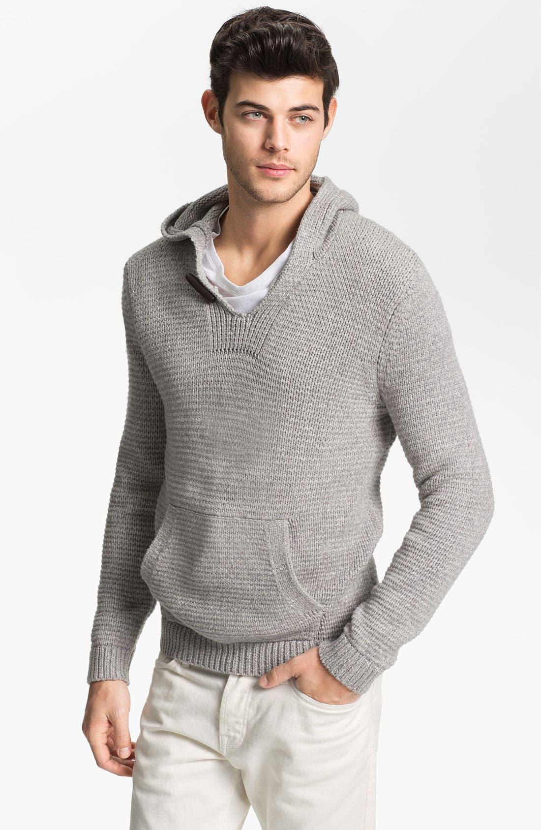Main Image - Vince 'Baja' Knit Pullover Hoodie