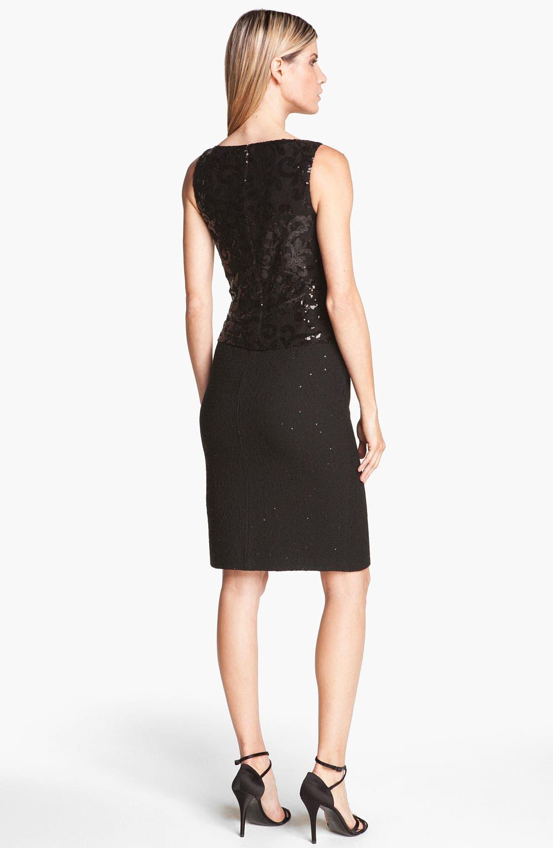 Alternate Image 2  - St. John Collection Sequin Lace & Shimmer Knit Dress