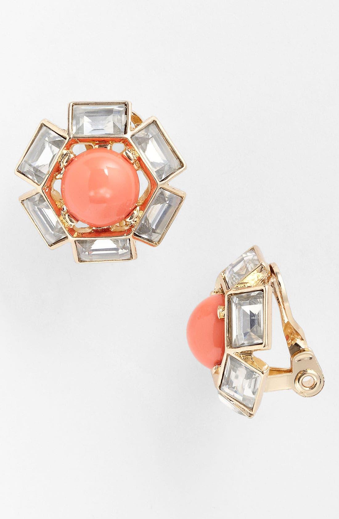 Alternate Image 1 Selected - Anne Klein Cluster Clip Stud Earrings