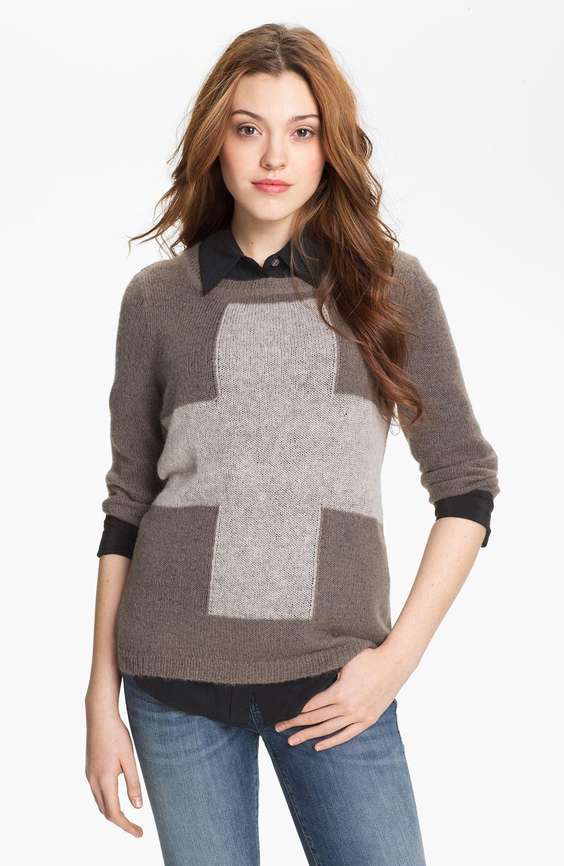 Alternate Image 1 Selected - Press Cross Intarsia Sweater