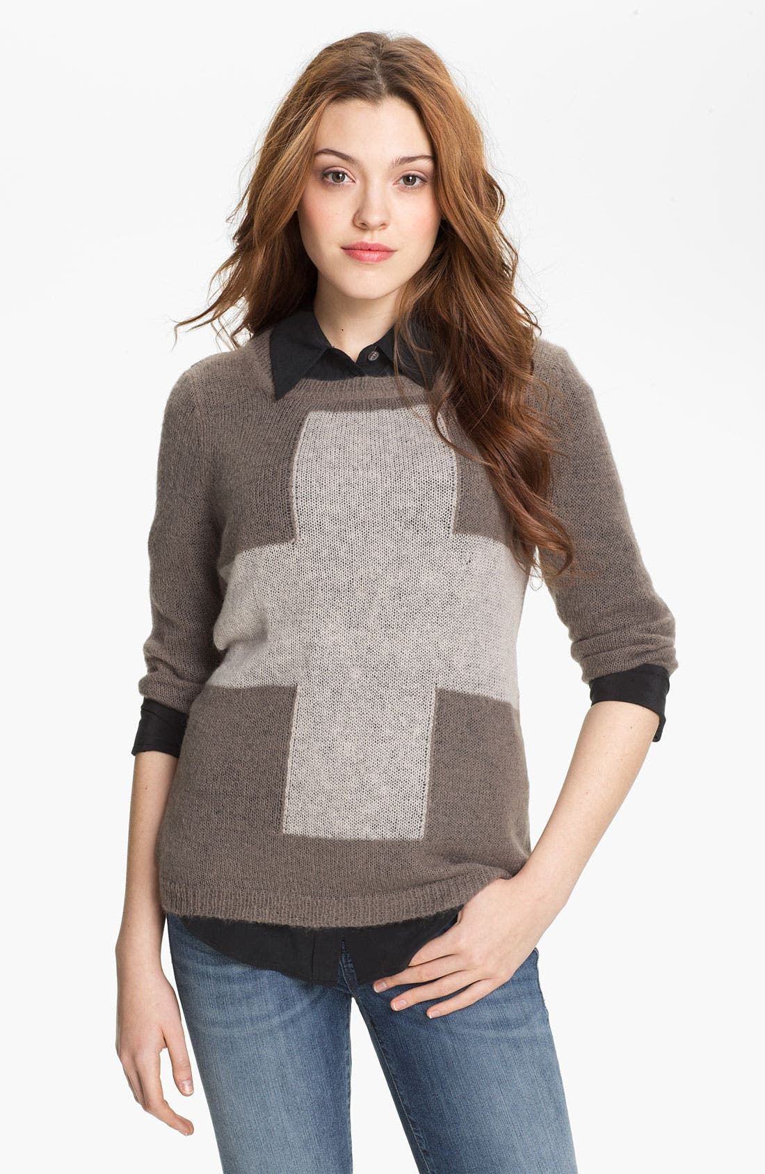 Main Image - Press Cross Intarsia Sweater