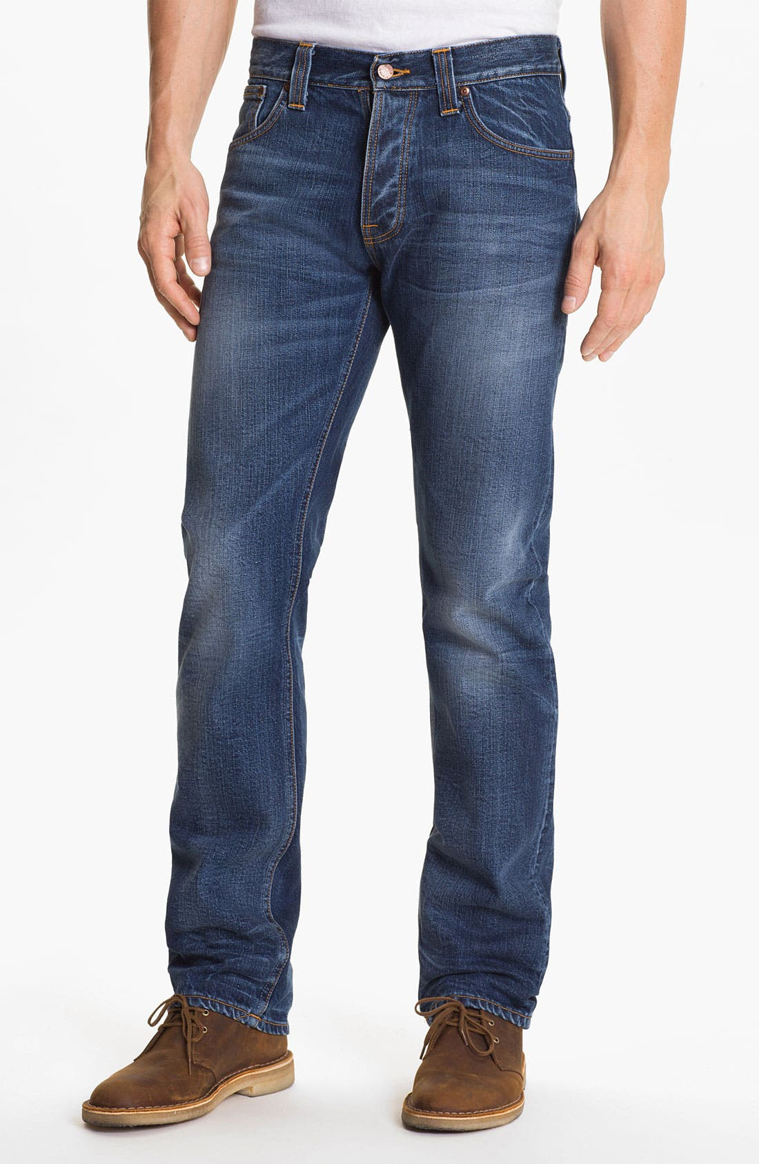 Alternate Image 2  - Nudie 'Average Joe' Straight Leg Jeans (Organic Fine Contrast)