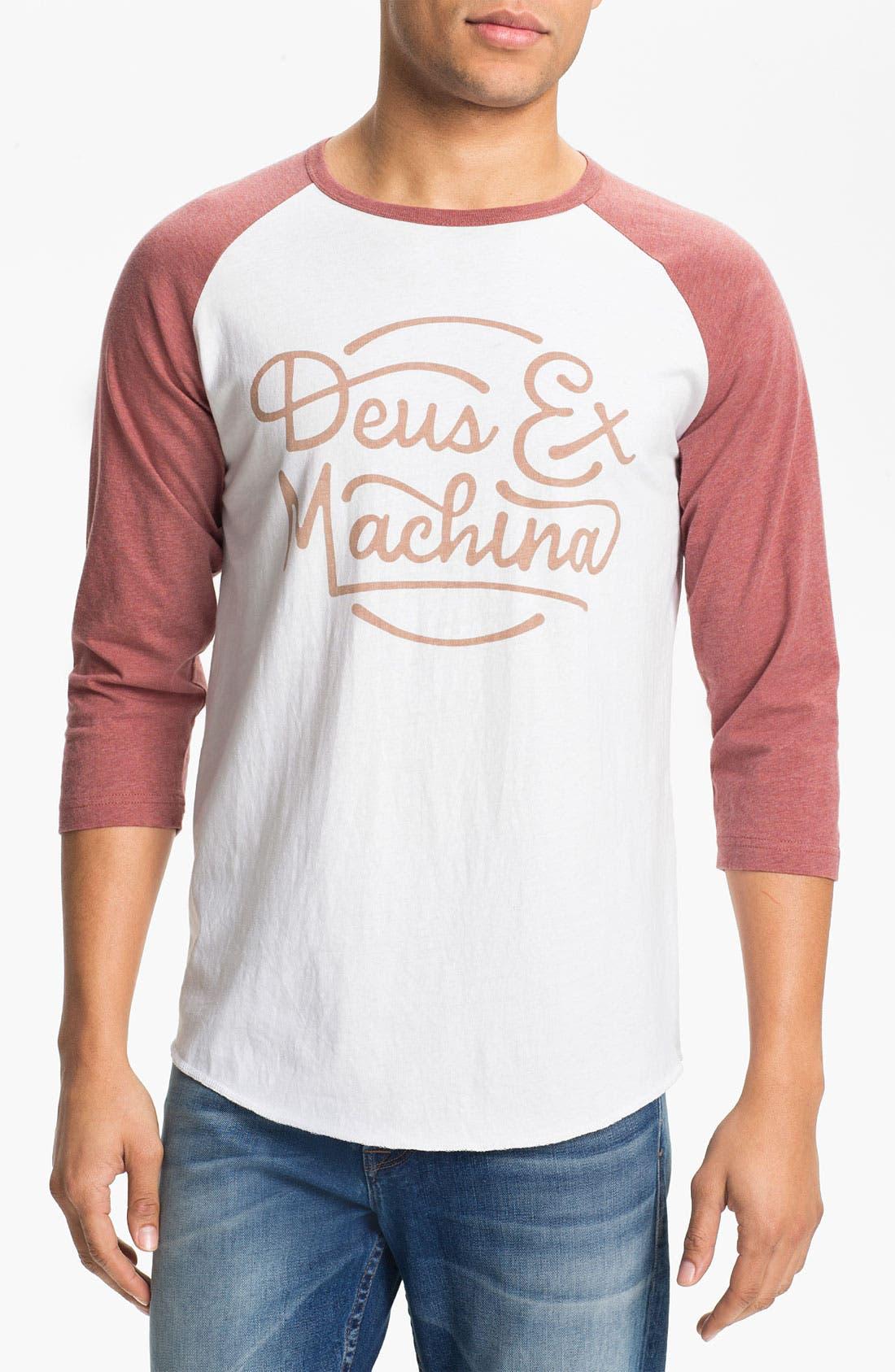 Main Image - Deus Ex Machina 'Throttle Top' Graphic Baseball T-Shirt