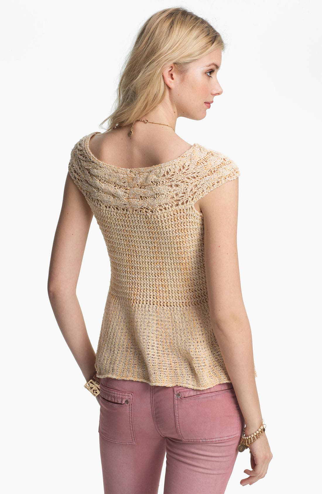 Alternate Image 2  - Free People 'Lollipop' Crochet Peplum Top