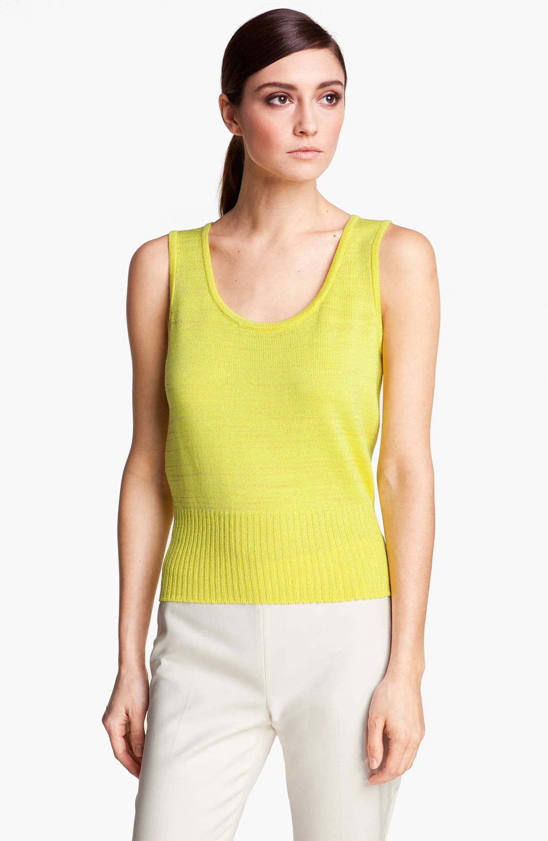 Alternate Image 1 Selected - St. John Yellow Label Space Dye Stripe Tank