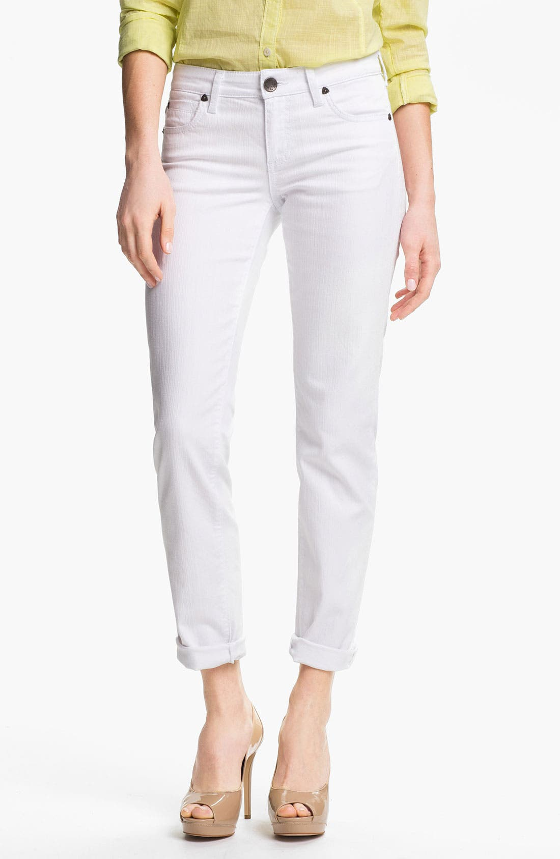 Alternate Image 1 Selected - KUT from the Kloth 'Catherine' Slim Boyfriend Jeans (White)