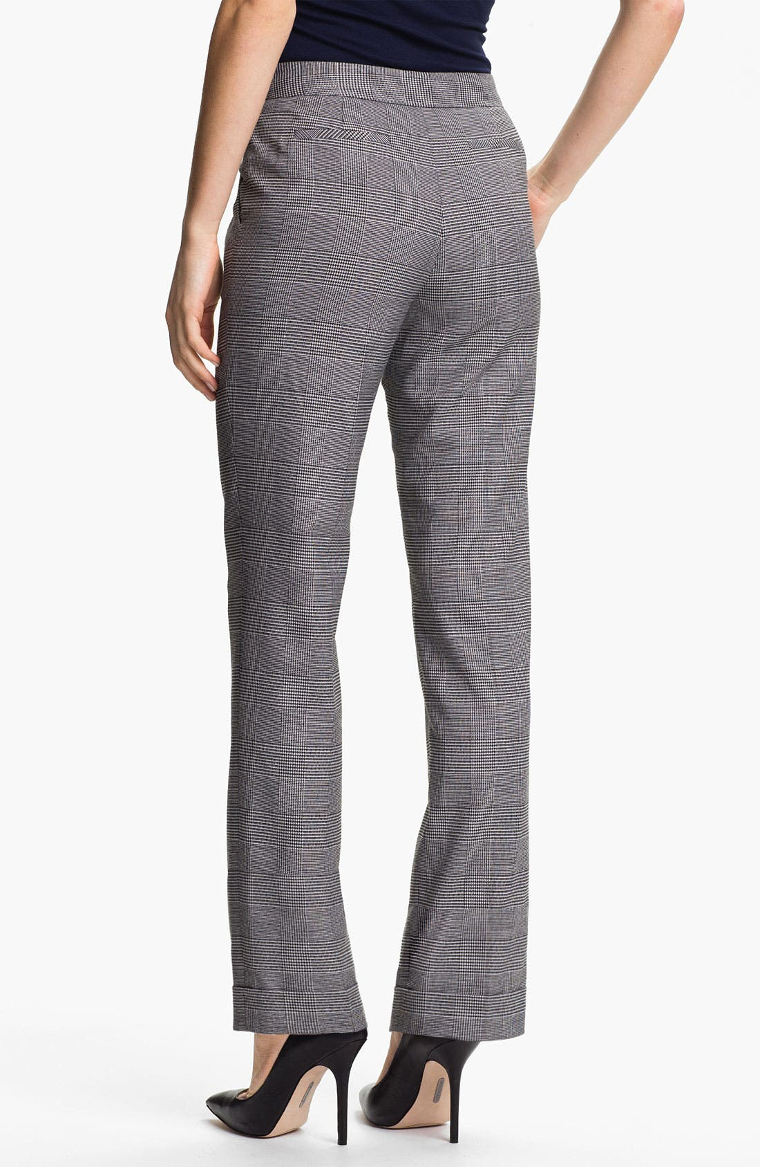 Alternate Image 2  - Anne Klein Cuffed Glen Plaid Pants (Petite)