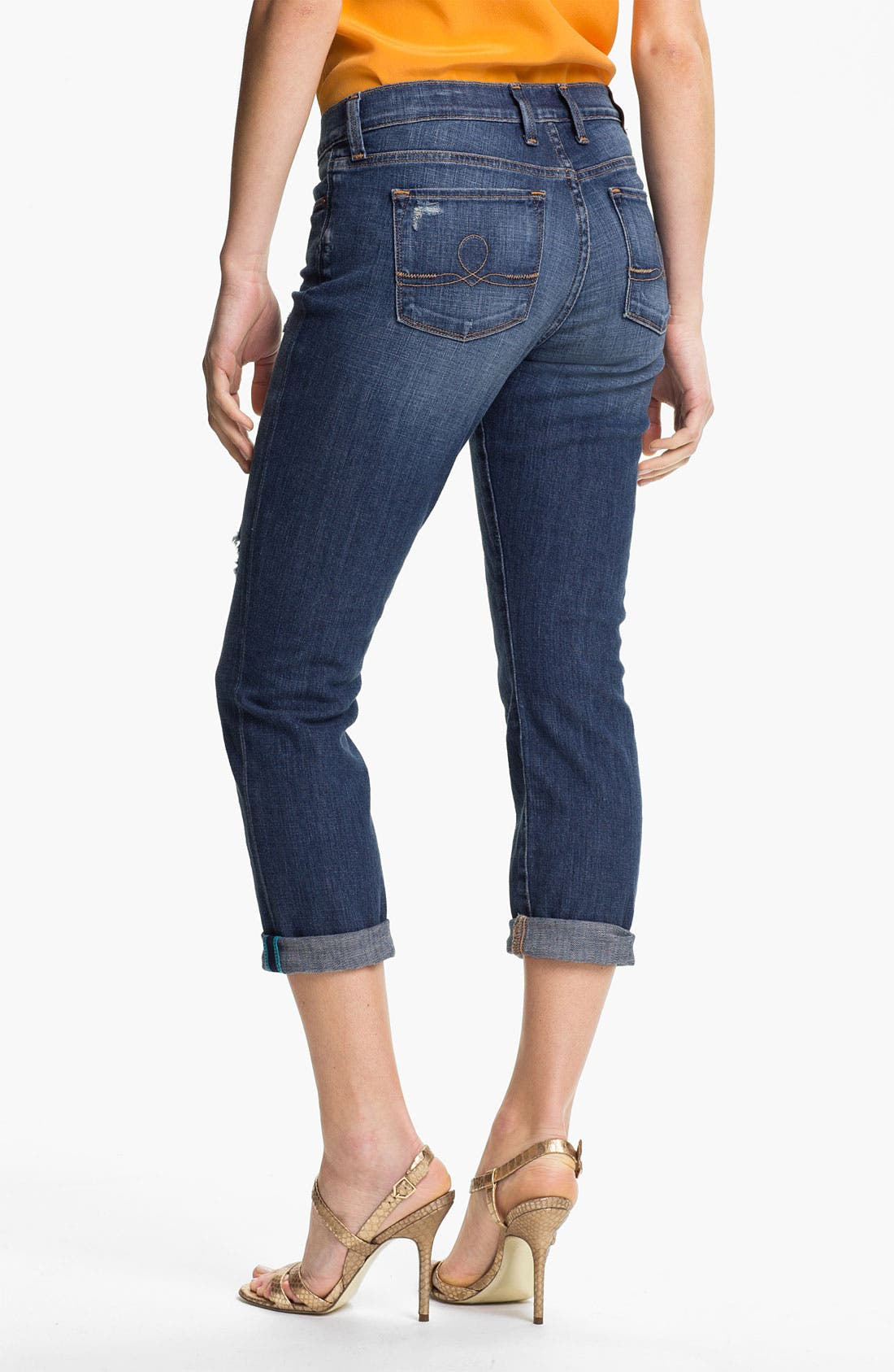 Alternate Image 2  - Lucky Brand Boyfriend Jeans (Chloe)