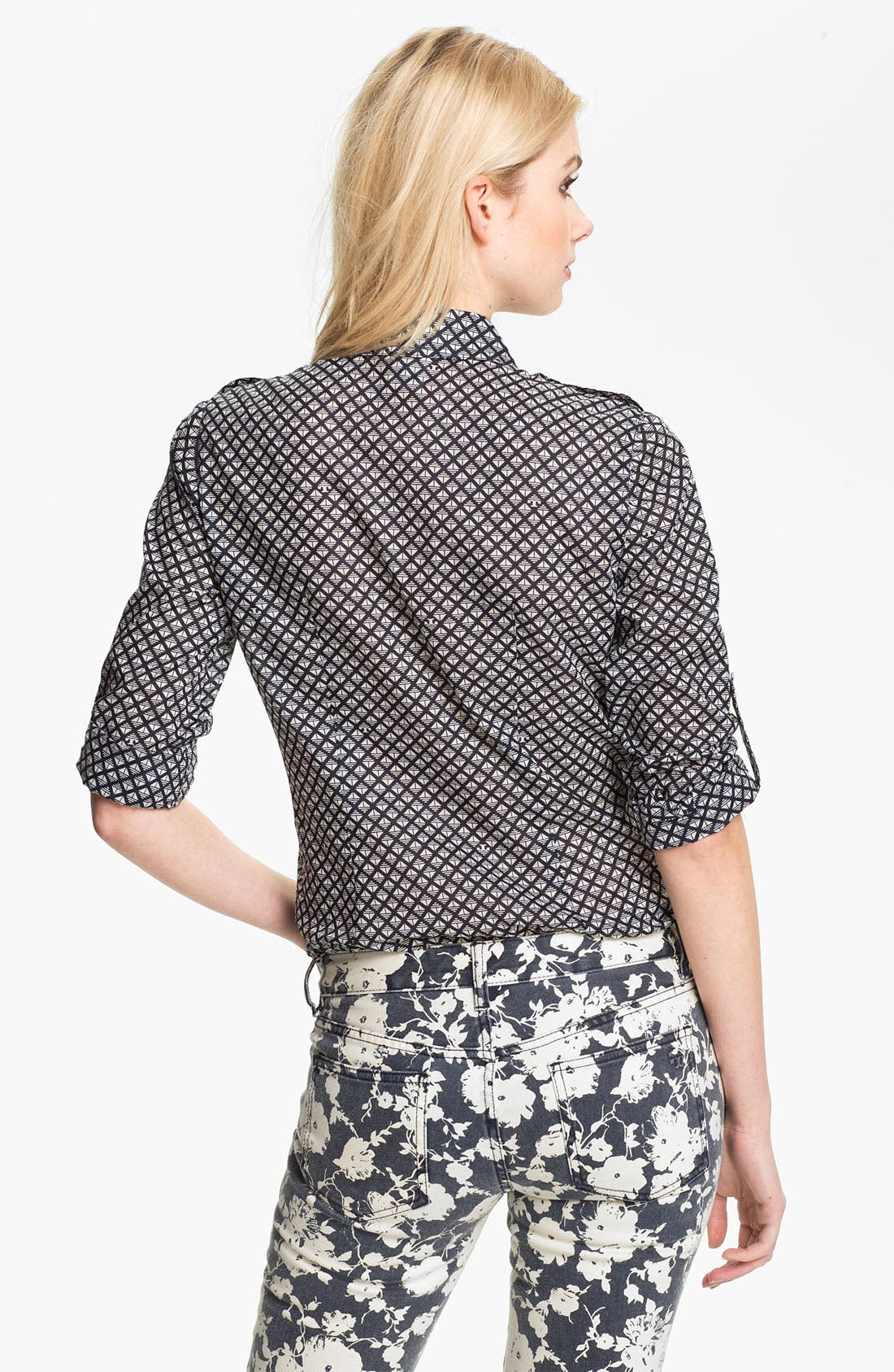 Alternate Image 2  - Tory Burch 'Brigitte' Print Military Shirt