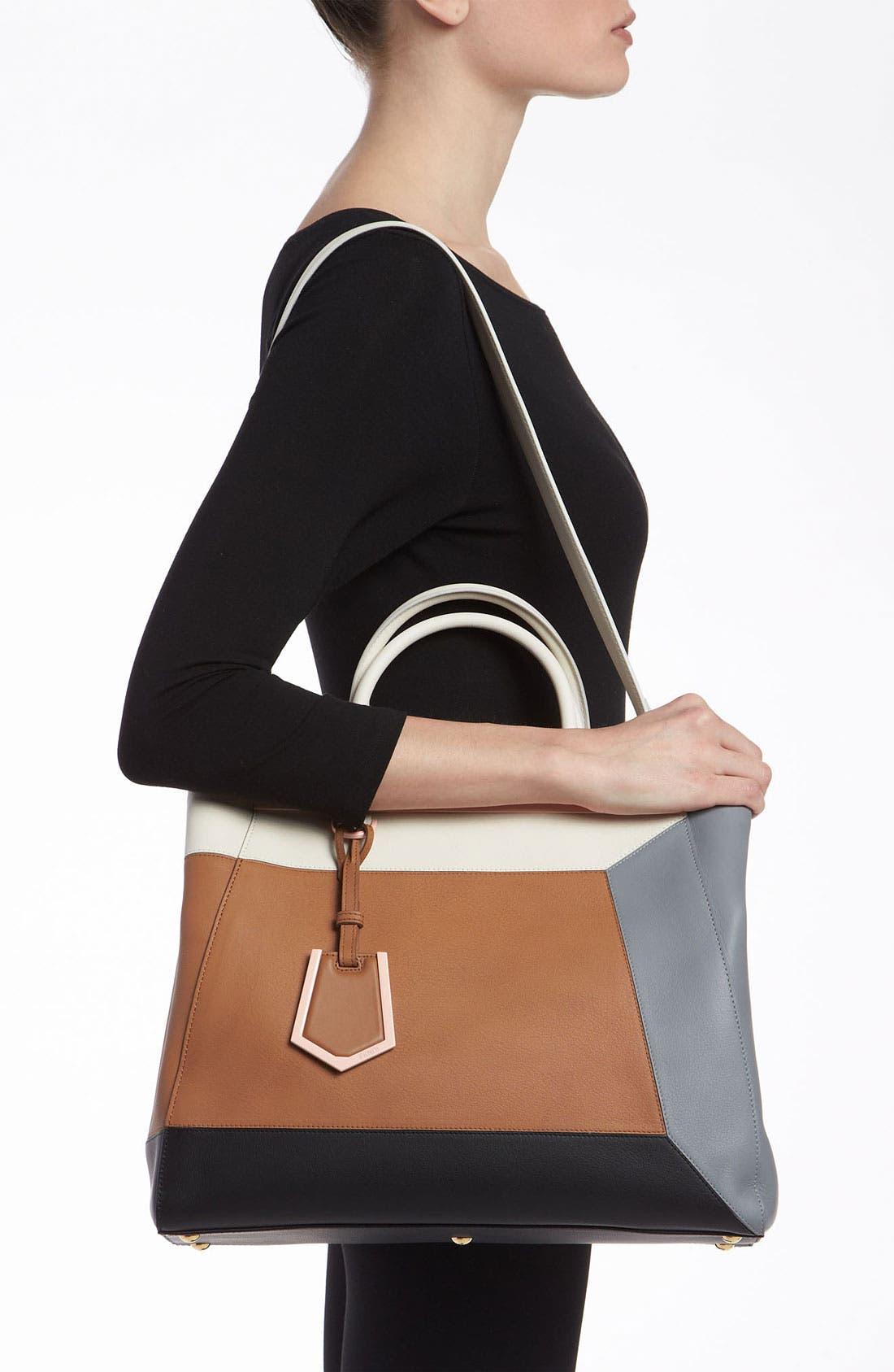 Alternate Image 2  - Fendi '2Jours 3D - Medium' Leather Shopper