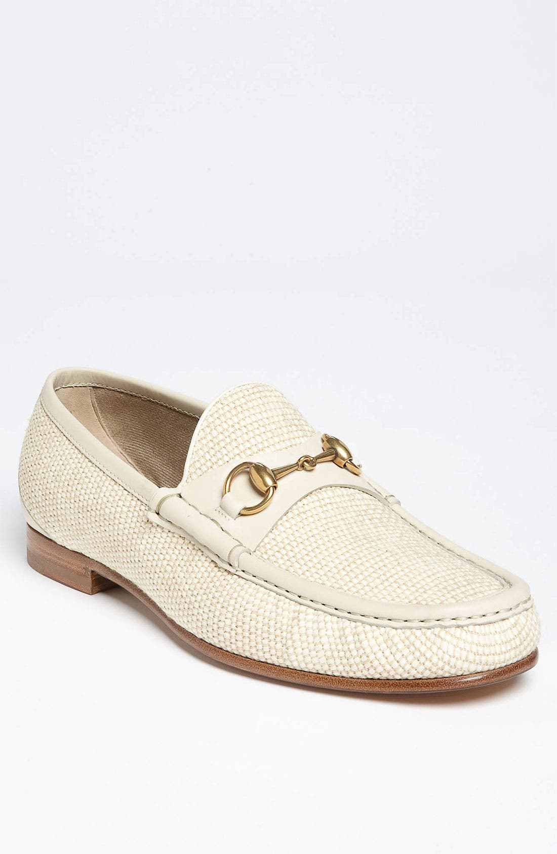 Main Image - Gucci 'Roos' Straw Bit Loafer