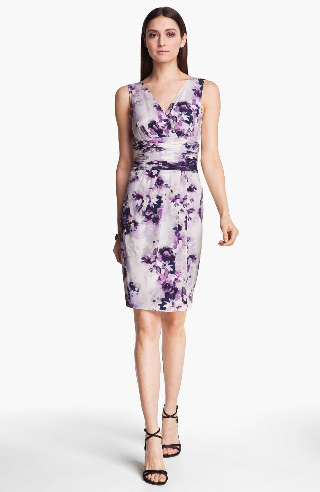 Alternate Image 1 Selected - St. John Collection Iris Print Silk Dress