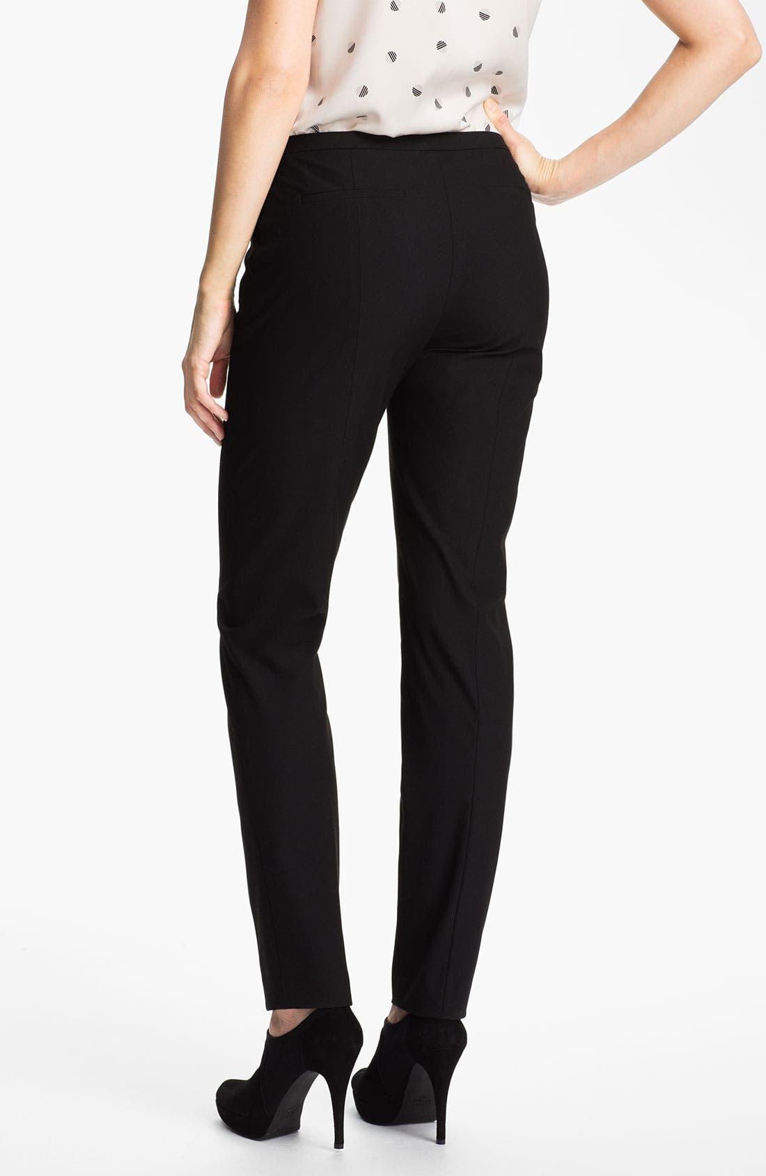Alternate Image 2  - Halogen® 'Ela Quinn' Skinny Pants (Petite)