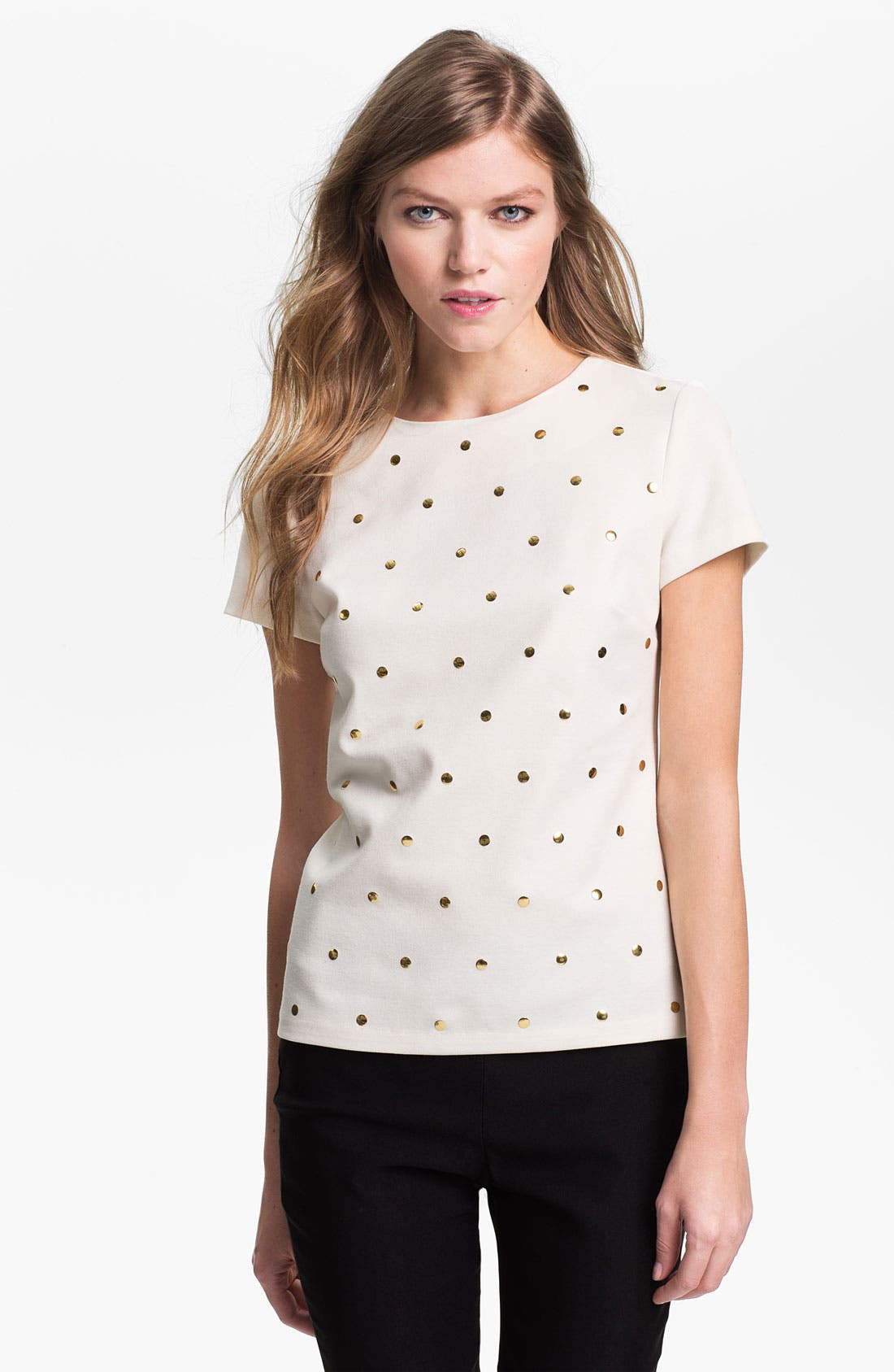Alternate Image 1 Selected - MICHAEL Michael Kors Studded Top
