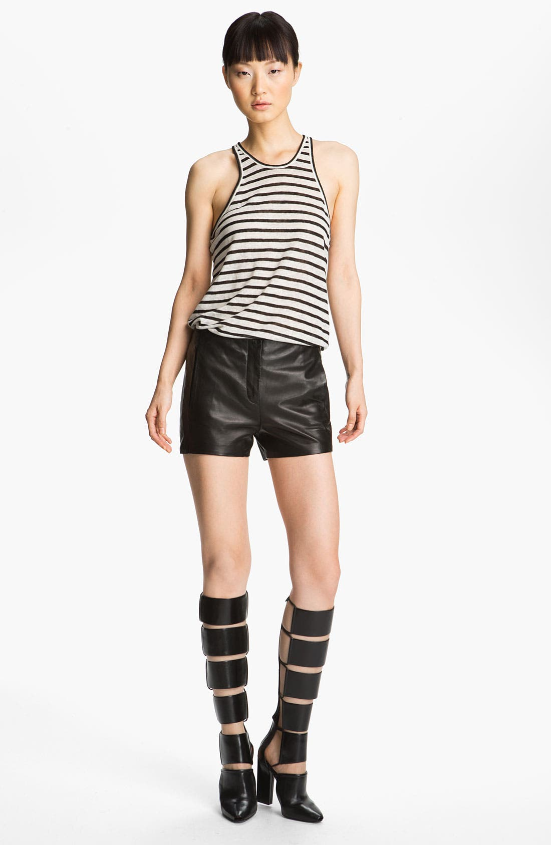 Alternate Image 7  - T by Alexander Wang Lightweight Leather Shorts