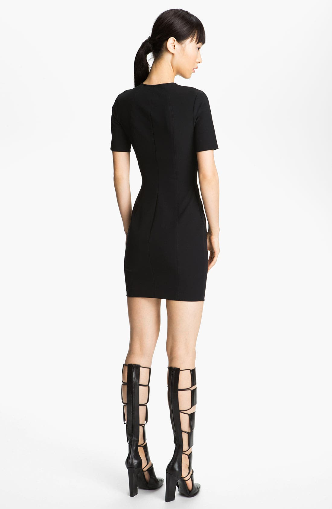 Alternate Image 2  - T by Alexander Wang Fitted Tech Dress