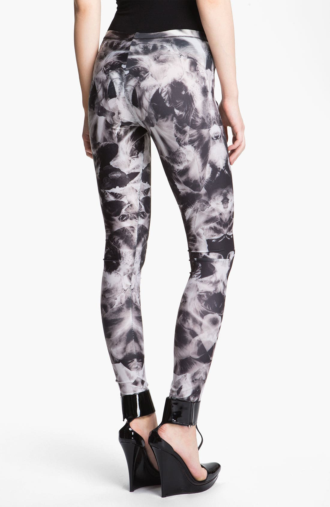 Alternate Image 2  - McQ by Alexander McQueen Orchid Print Leggings