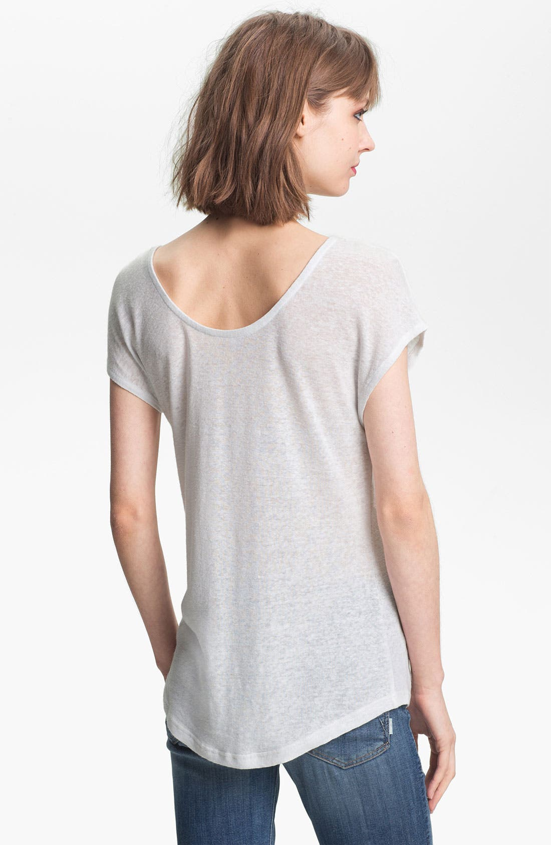 Alternate Image 2  - Trouvé Double Scoop Linen-Blend Tee