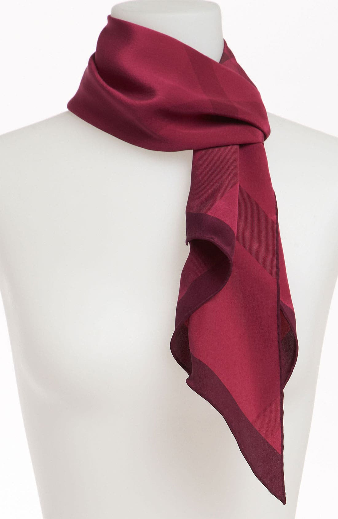 Alternate Image 1 Selected - Burberry Giant Check Oblong Silk Scarf
