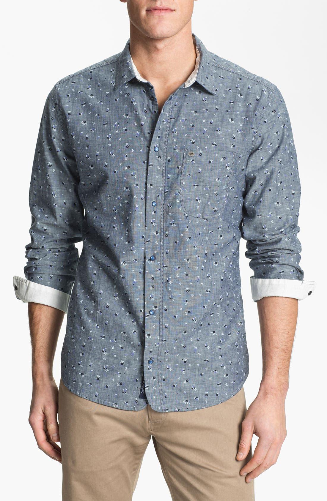 Main Image - DIESEL® 'Sermon-R' Floral Print Chambray Shirt