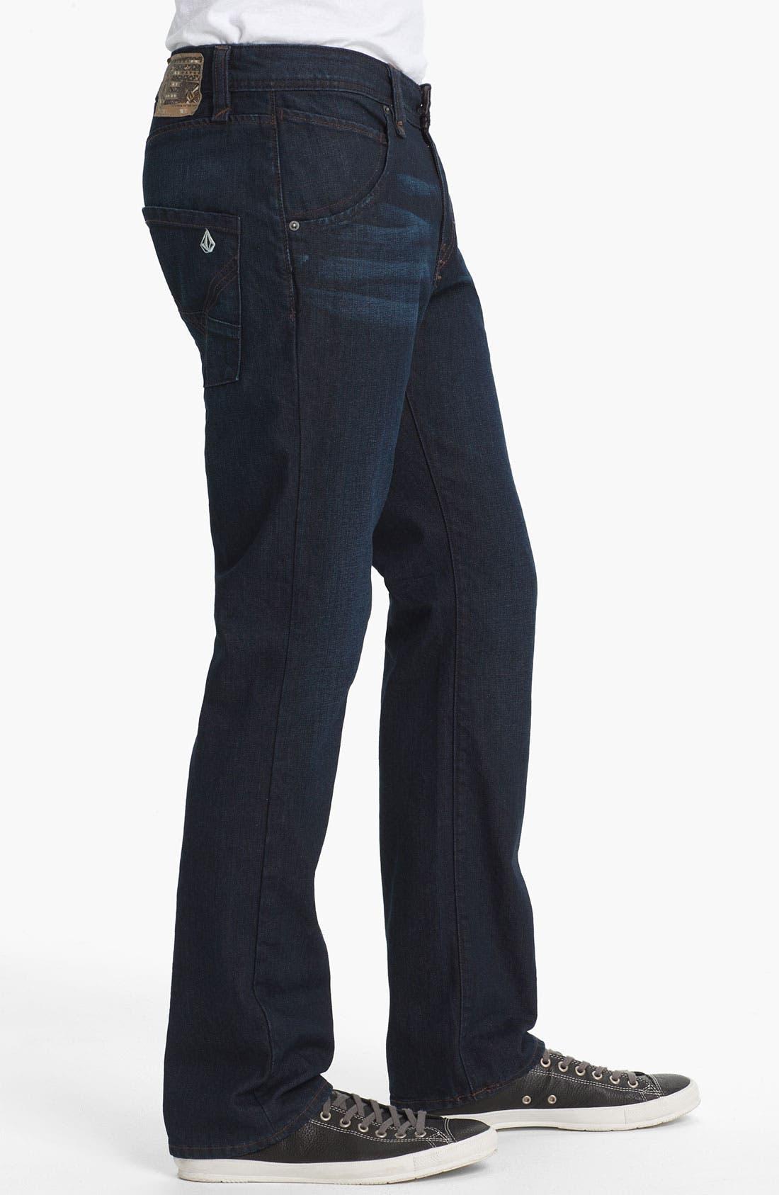 Alternate Image 3  - Volcom 'Nova' Slim Straight Leg Jeans (VC02) (Online Only)