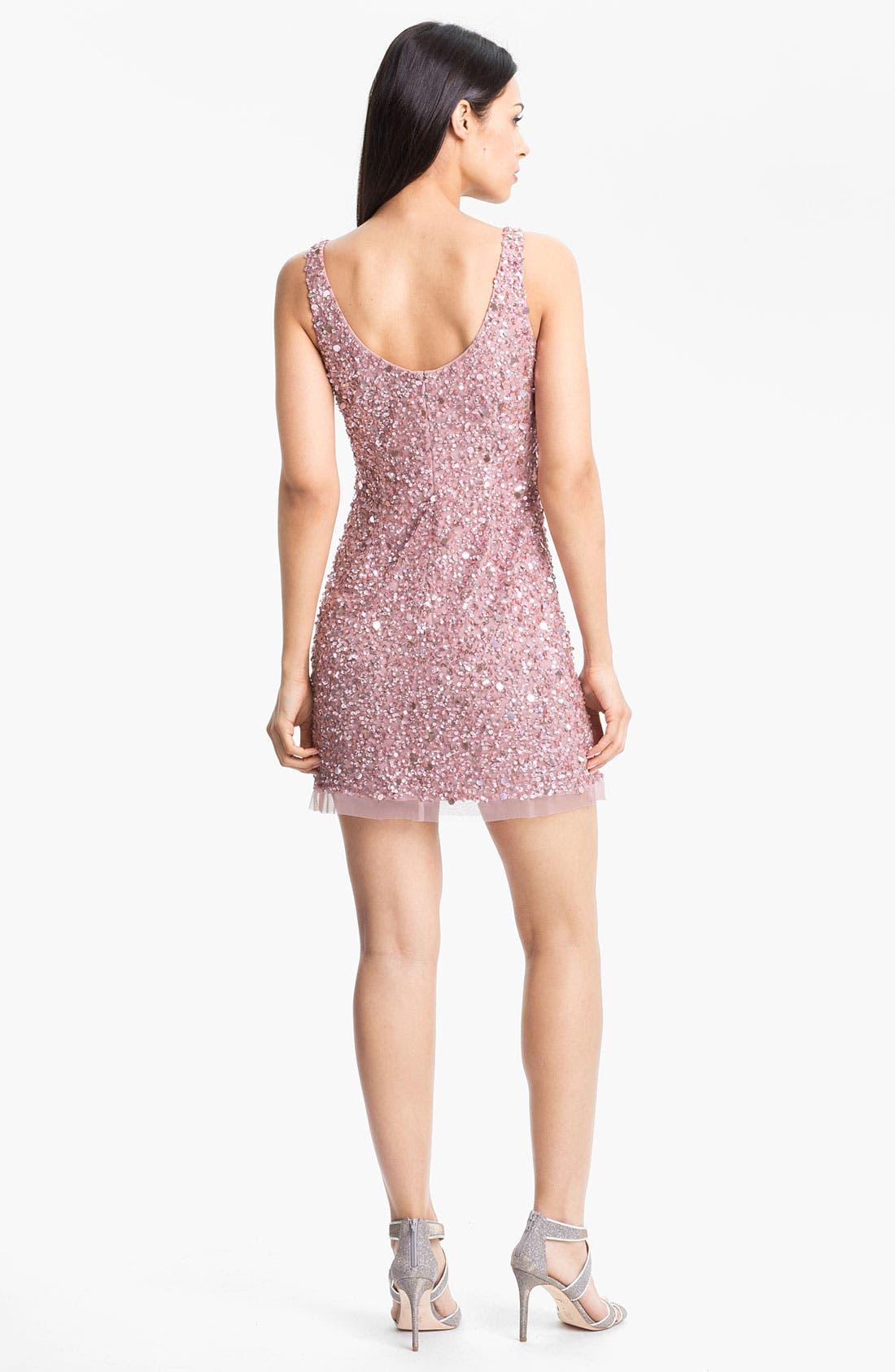 Alternate Image 2  - Adrianna Papell Sequin Mesh Minidress