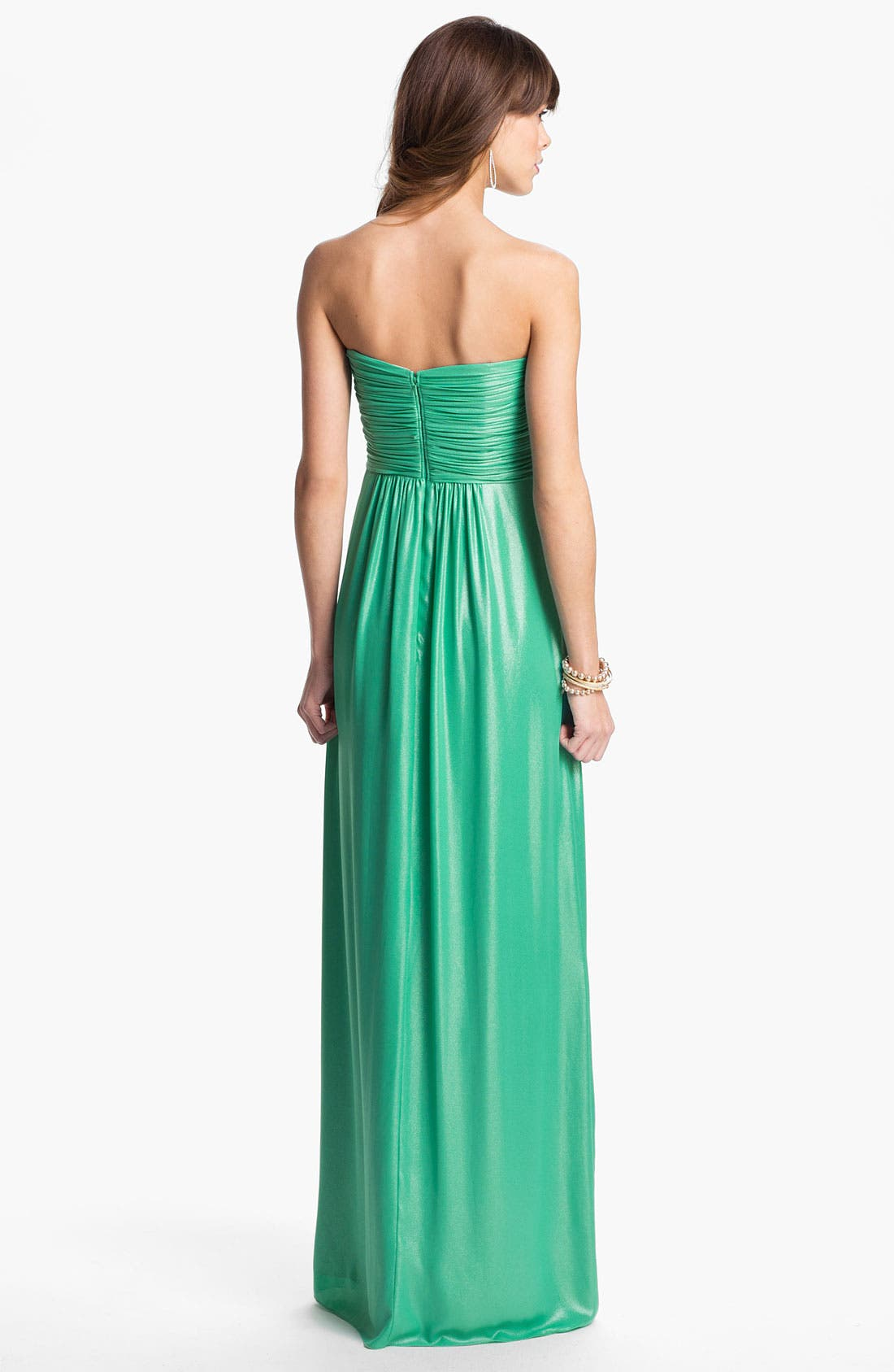 Alternate Image 2  - Laundry by Shelli Segal Shimmer Chiffon Gown