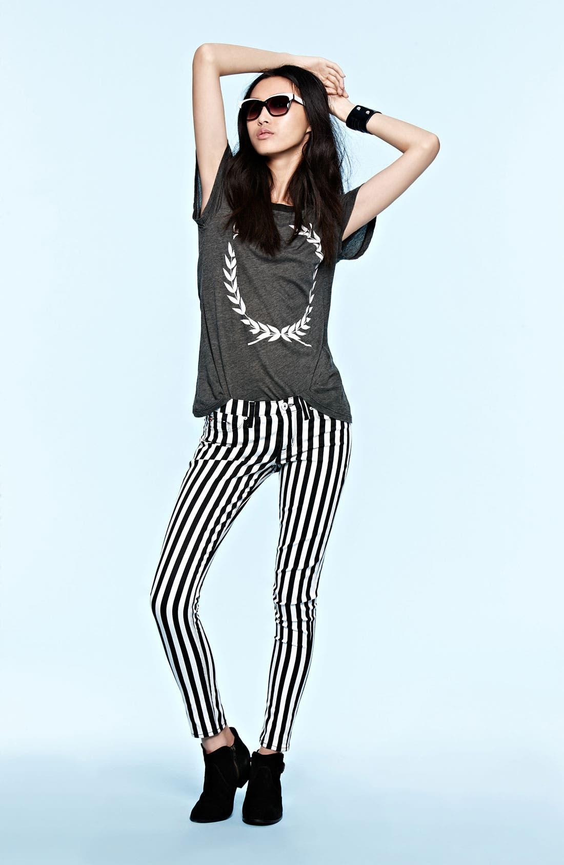 Main Image - Hudson Jeans & Wildfox Tee