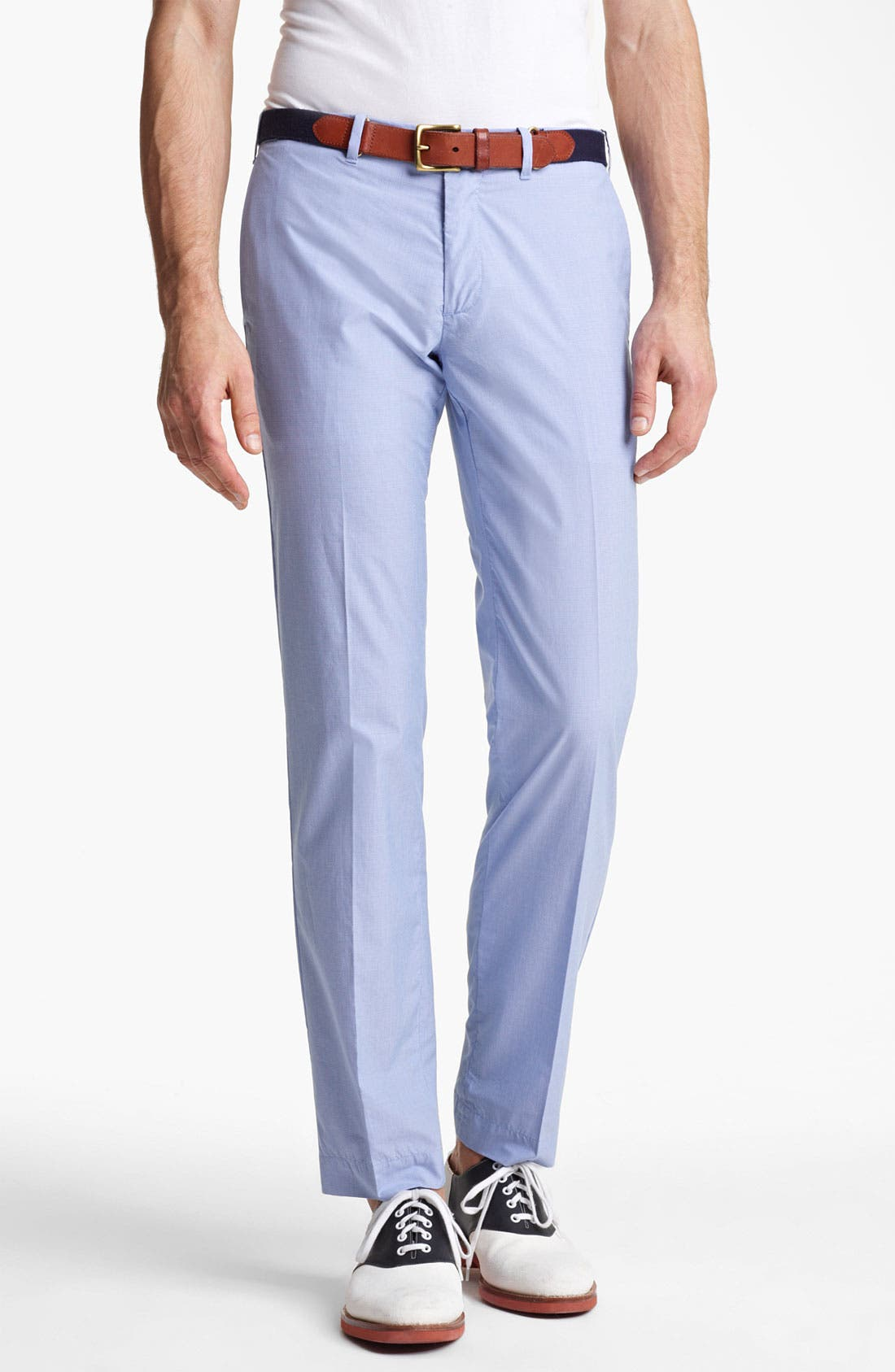Main Image - Polo Ralph Lauren Custom Fit Flat Front Pants