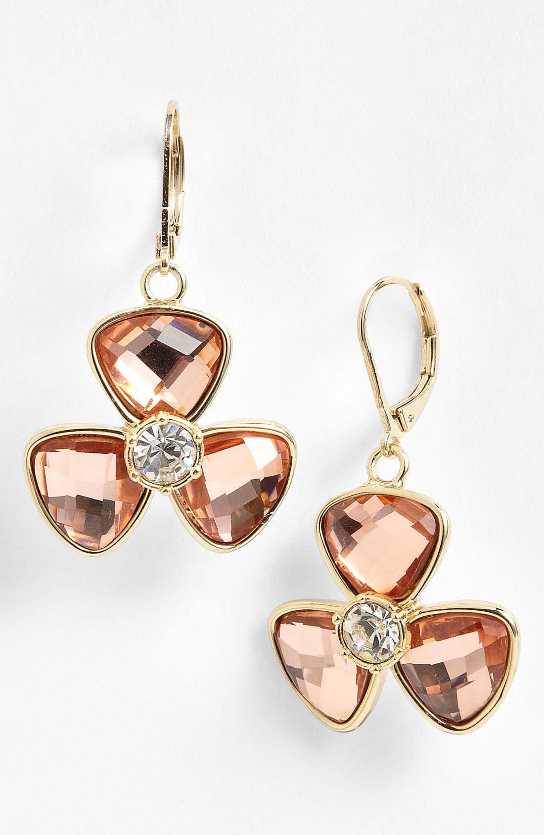 Alternate Image 1 Selected - Anne Klein Floral Drop Earrings