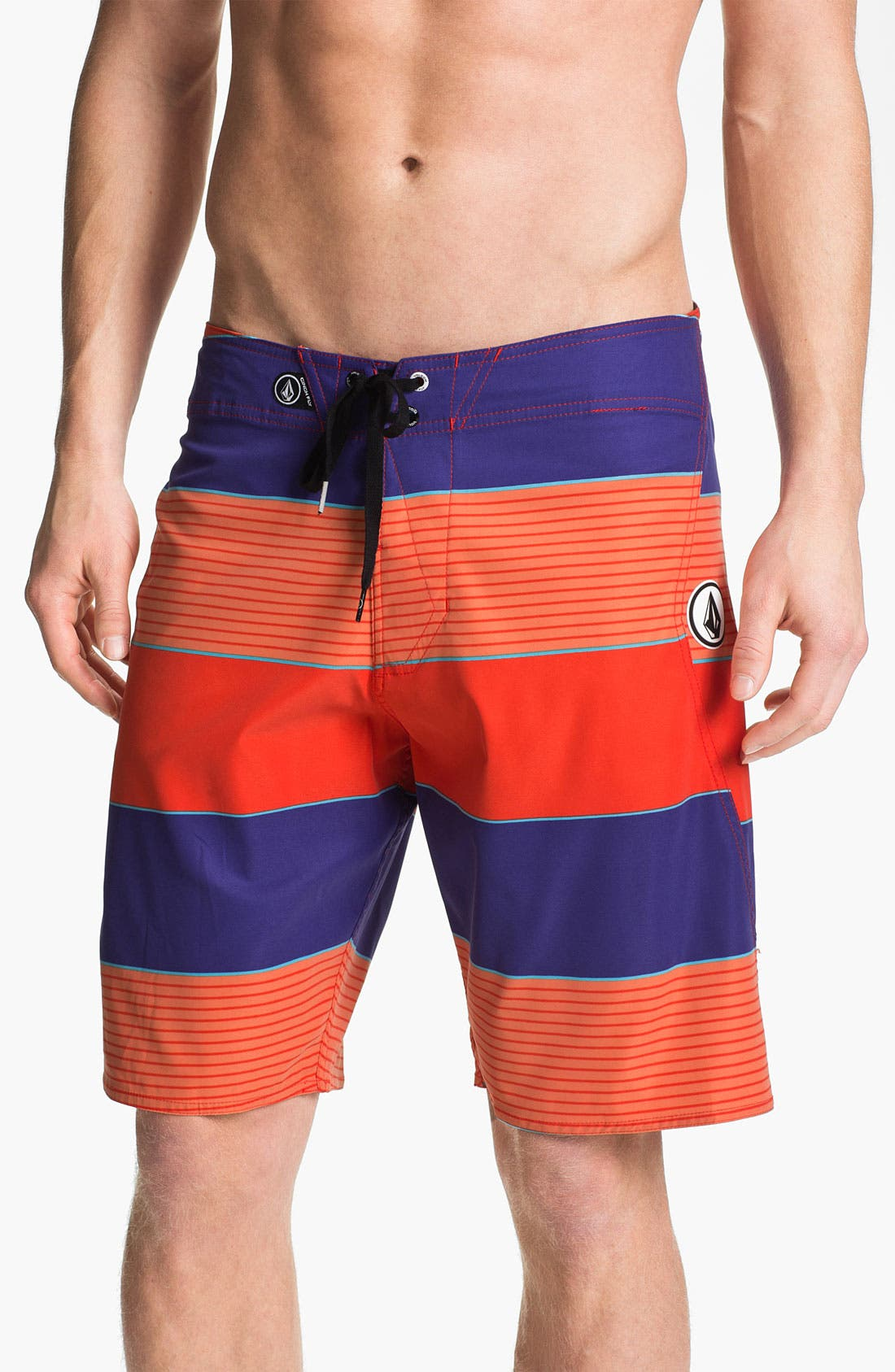 Alternate Image 1 Selected - Volcom 'Maguro' Stripe Board Shorts