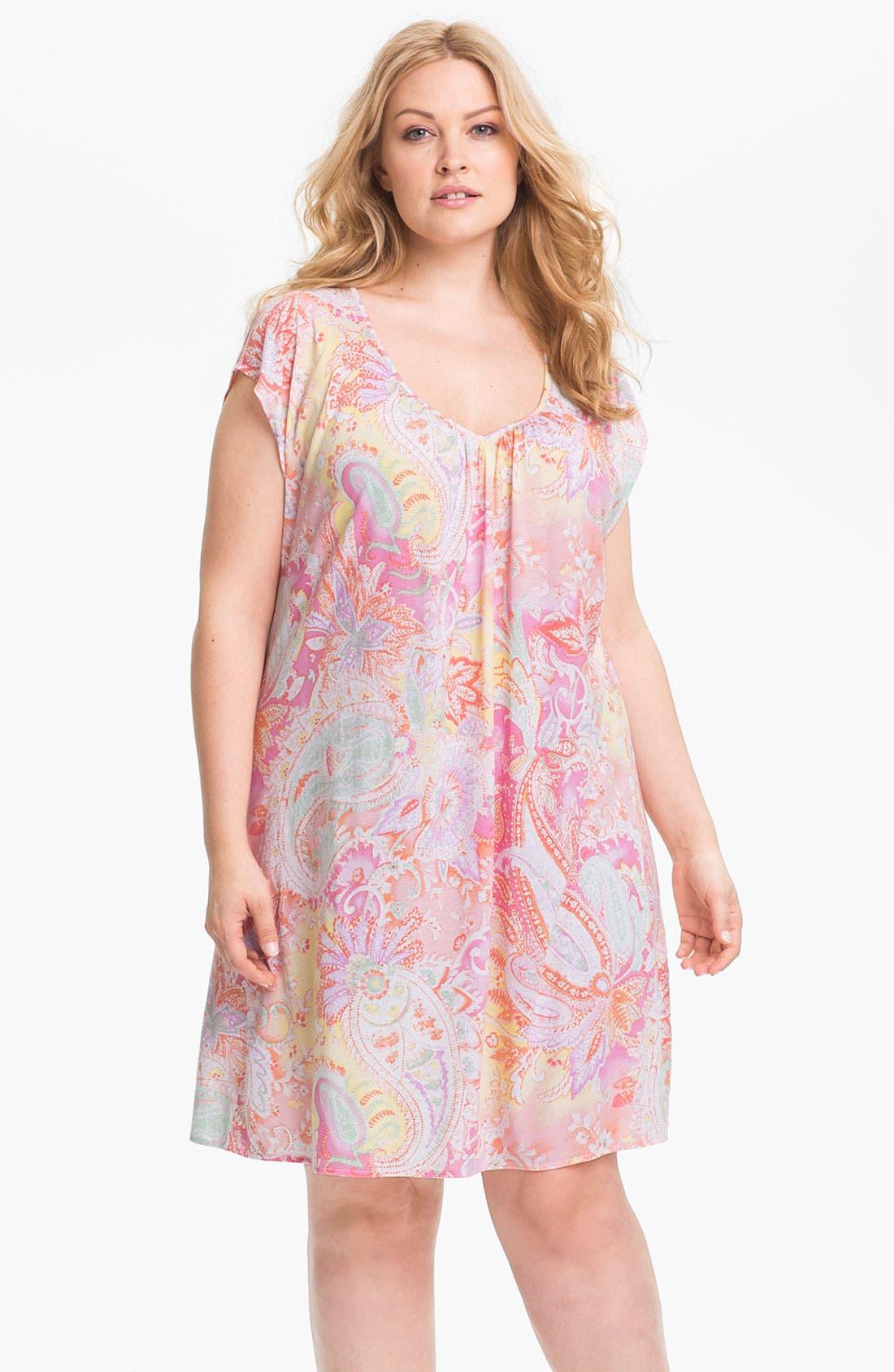 Alternate Image 1 Selected - Lauren Ralph Lauren Sleepwear Knit Nightgown (Plus)