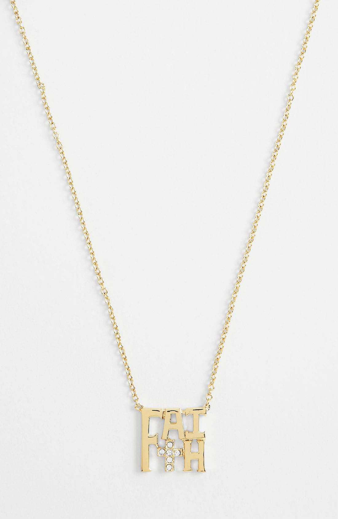 Alternate Image 1 Selected - Ariella Collection 'Messages - Faith' Pendant Necklace