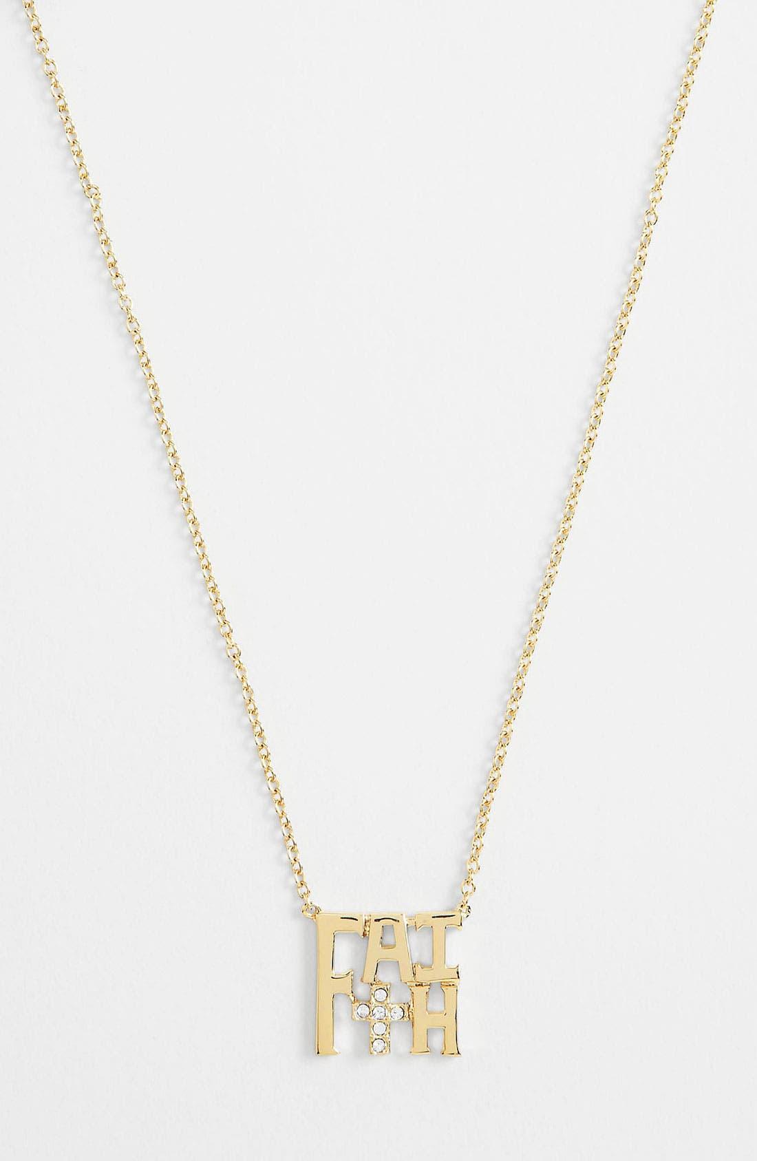 Main Image - Ariella Collection 'Messages - Faith' Pendant Necklace